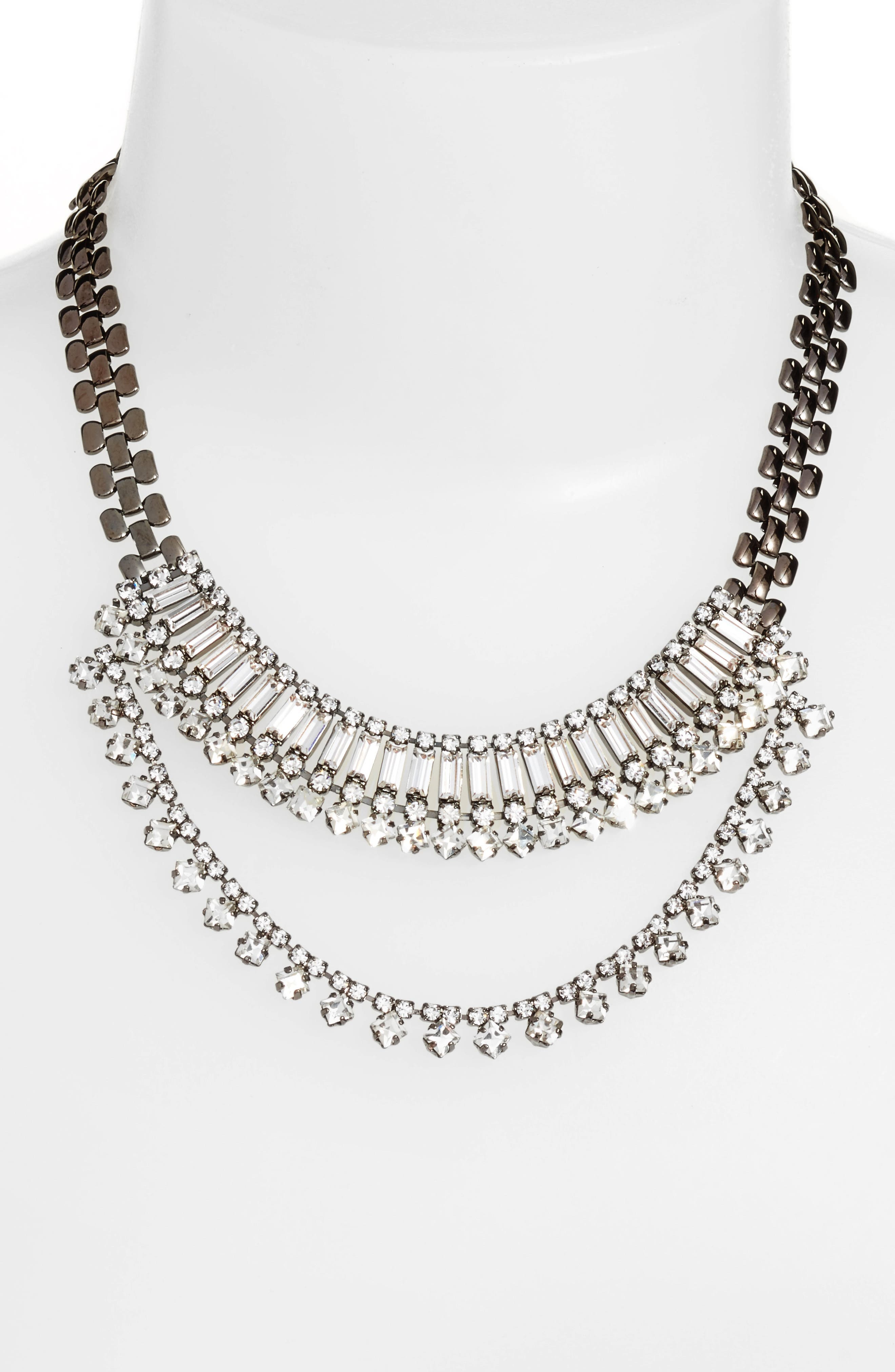 Multistone Frontal Necklace,                             Alternate thumbnail 2, color,                             001