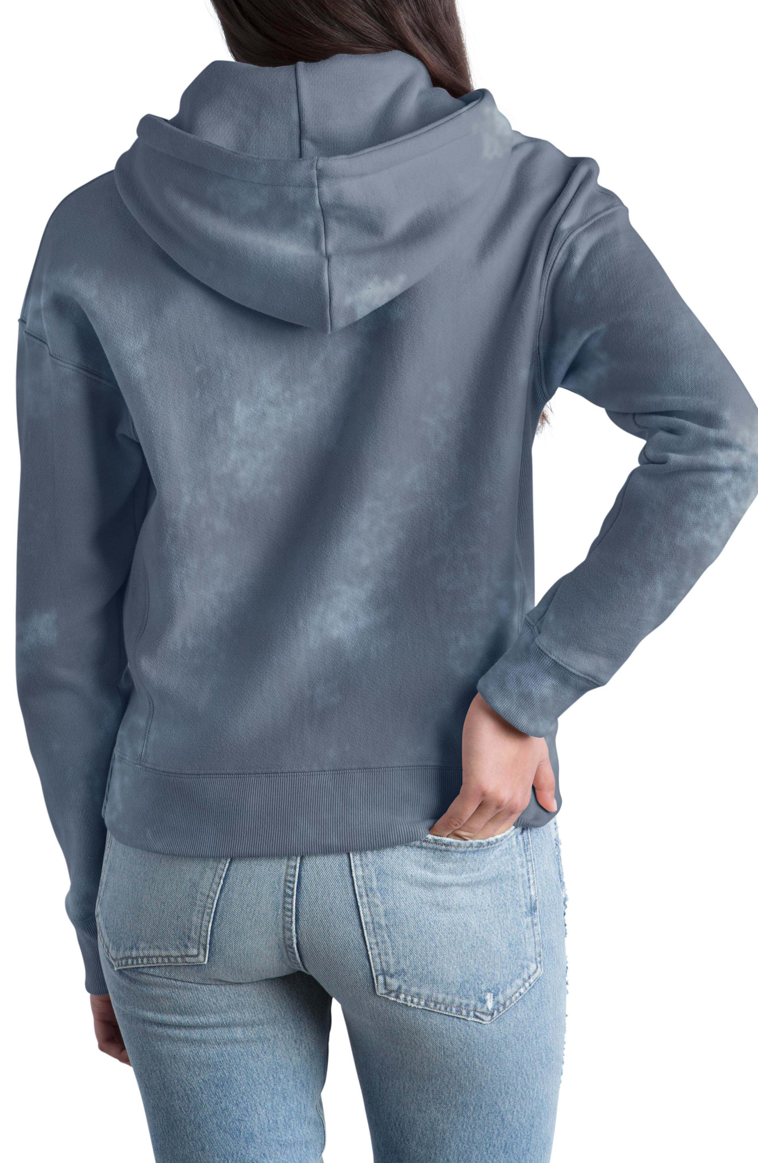 Garment Dyed Hoodie,                             Alternate thumbnail 2, color,                             DUSTED BLUE