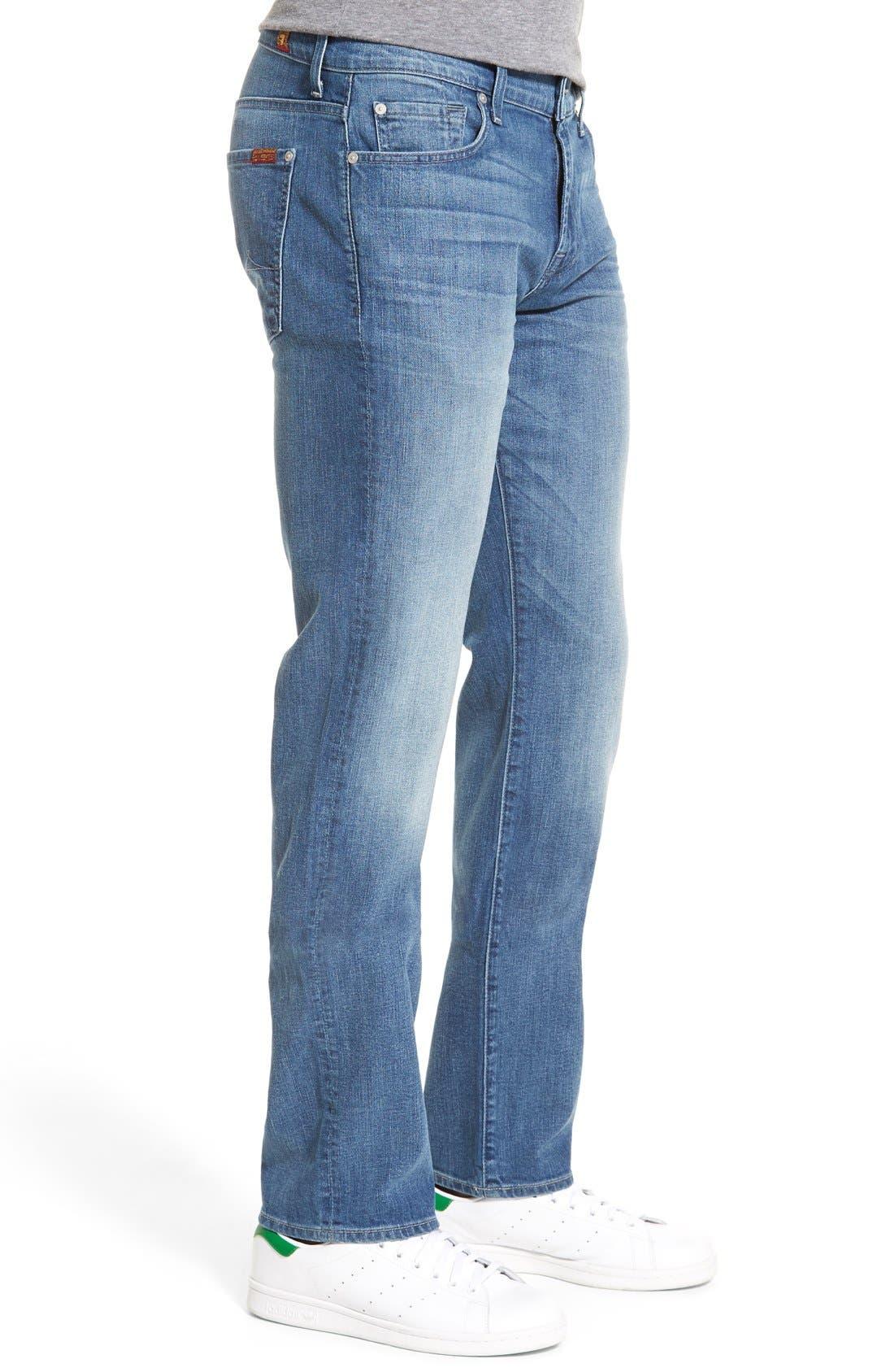 'Standard' Straight Leg Jeans,                             Alternate thumbnail 5, color,                             401