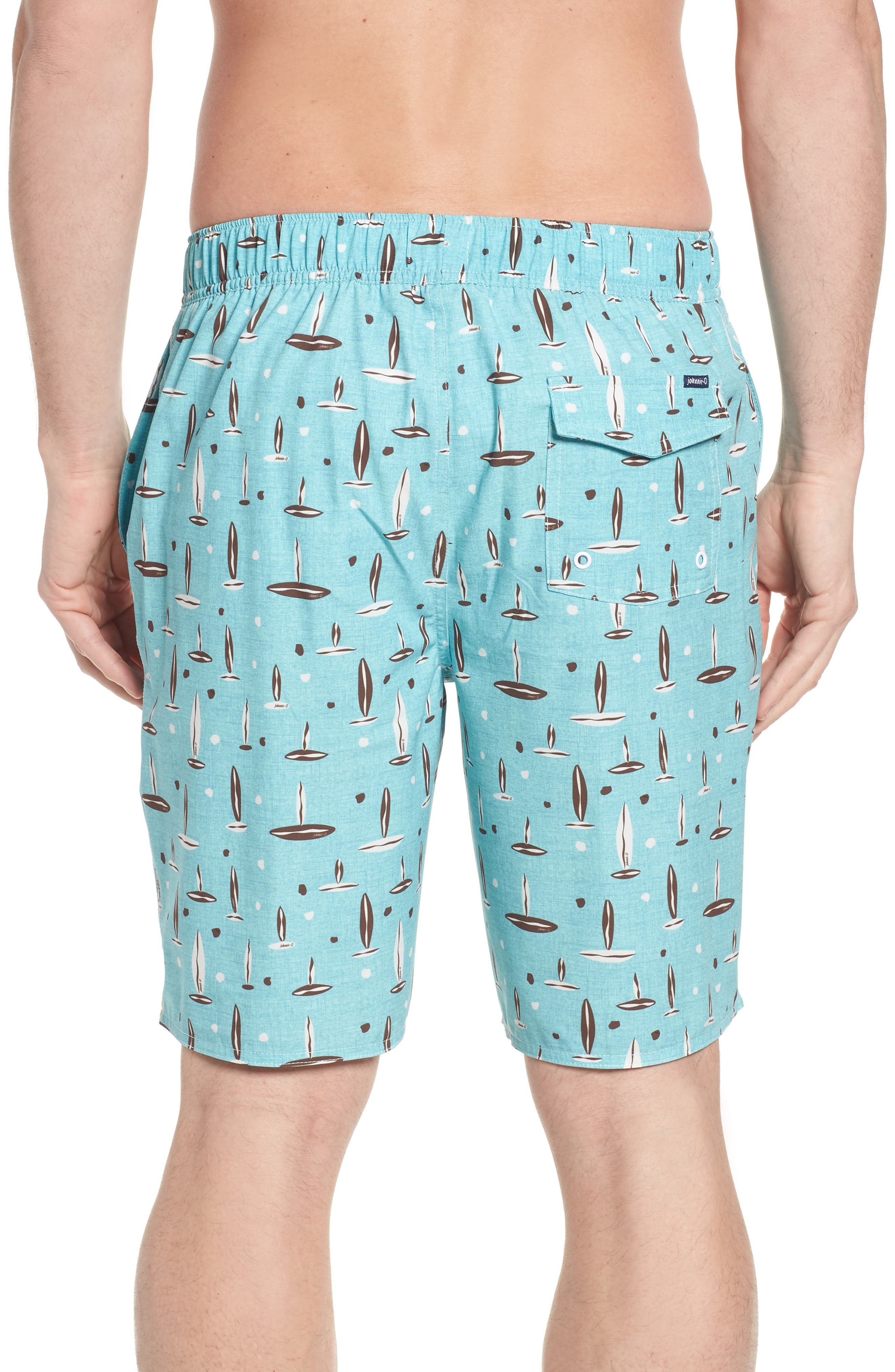 Rowan Regular Fit Board Shorts,                             Alternate thumbnail 2, color,                             SURF