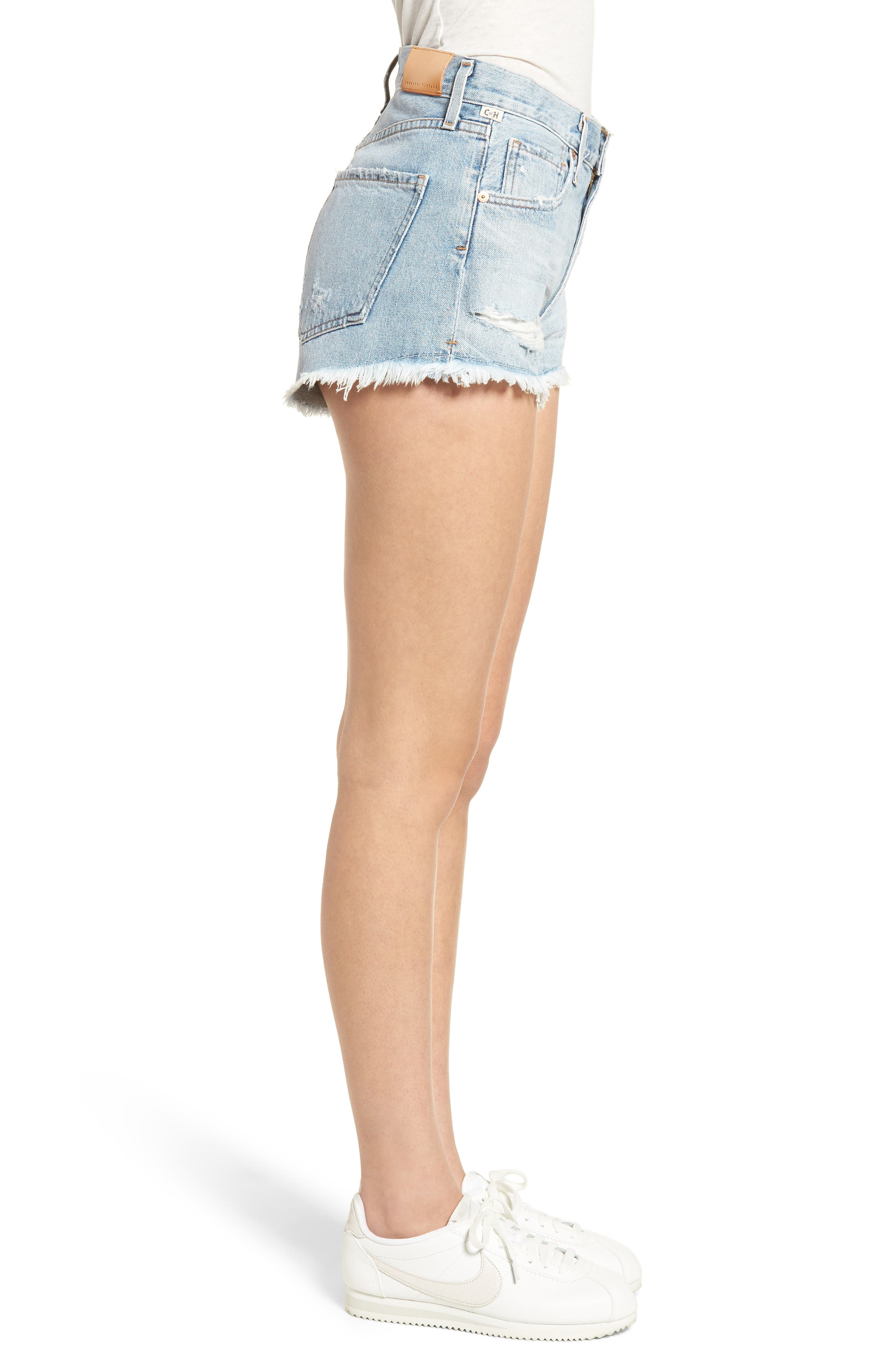 Danielle Cutoff Shorts,                             Alternate thumbnail 3, color,                             454