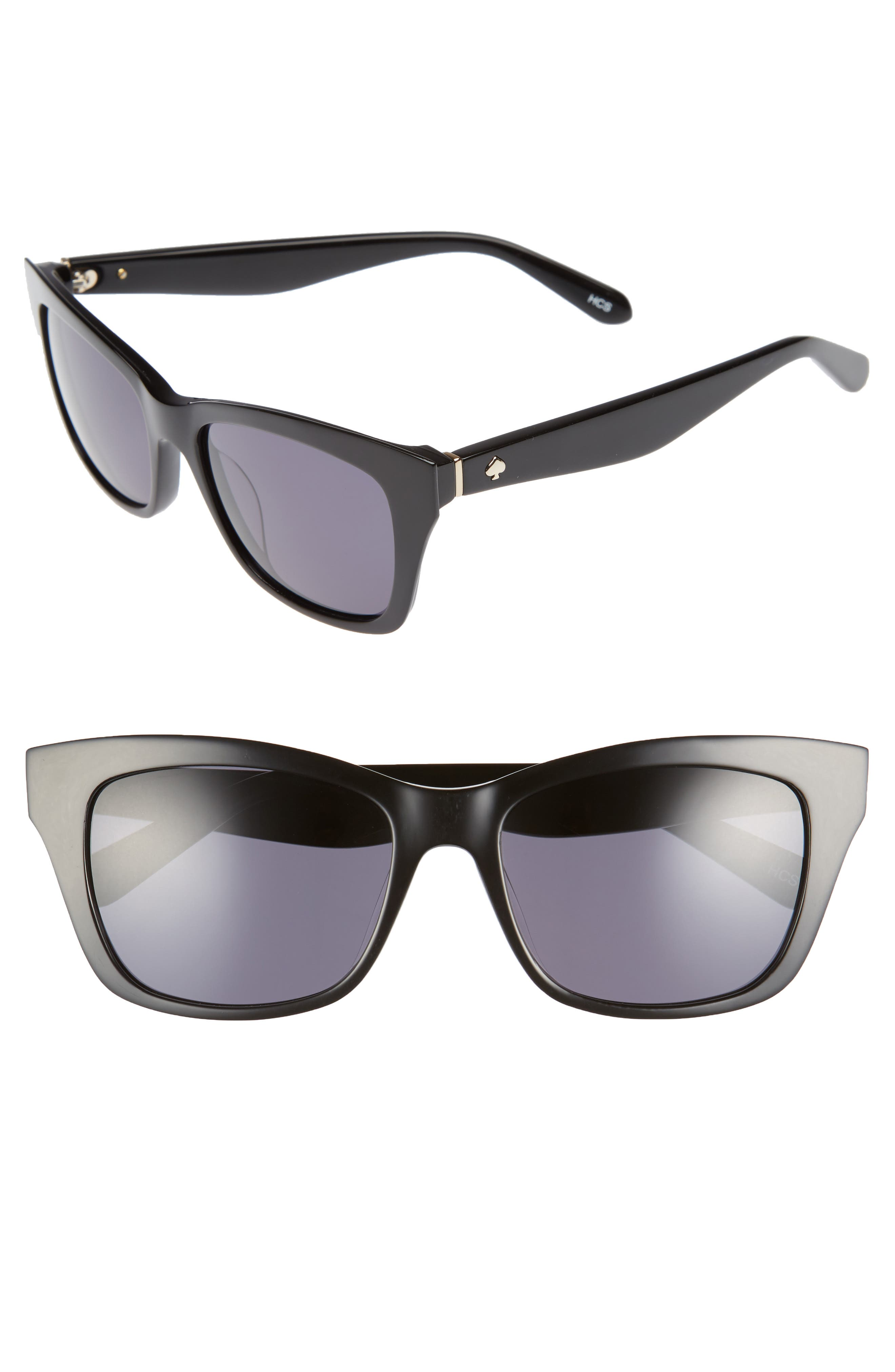 jenae 53mm sunglasses,                         Main,                         color, 001