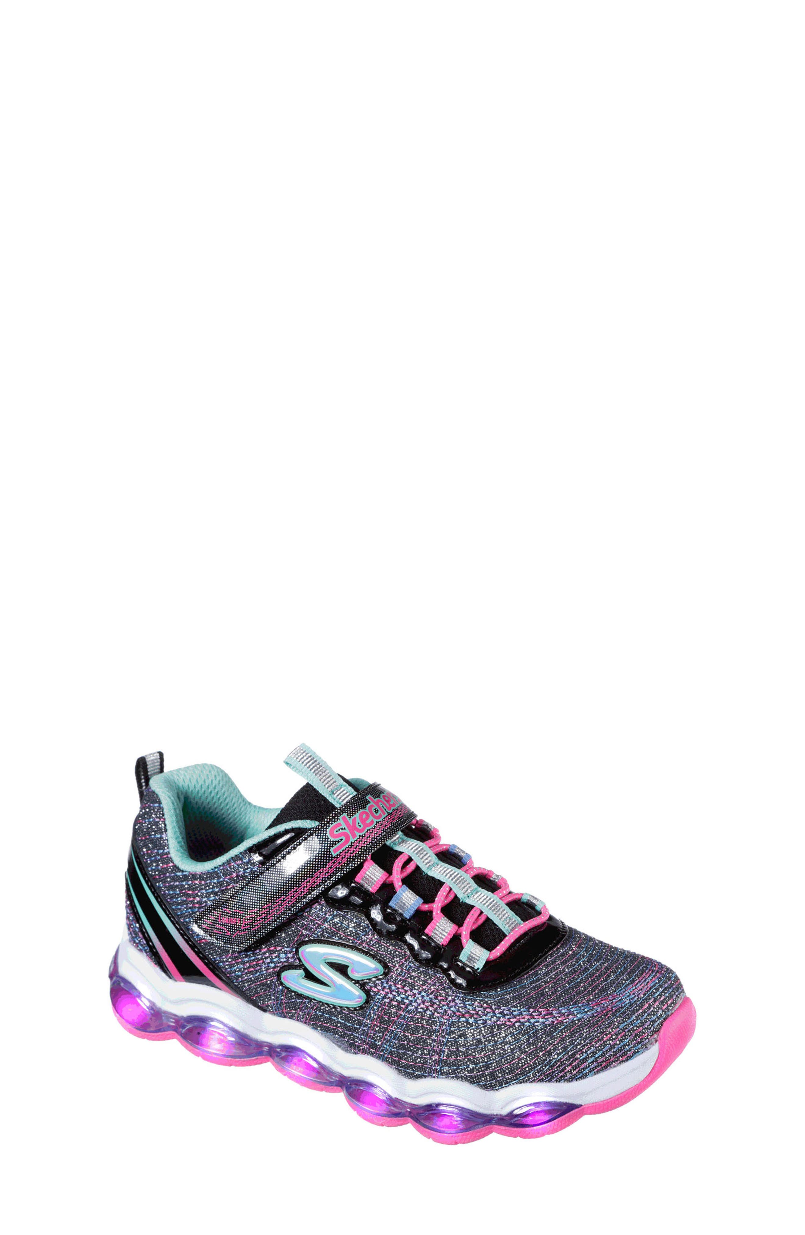 Glimmer Lights Sneakers,                             Alternate thumbnail 7, color,                             001
