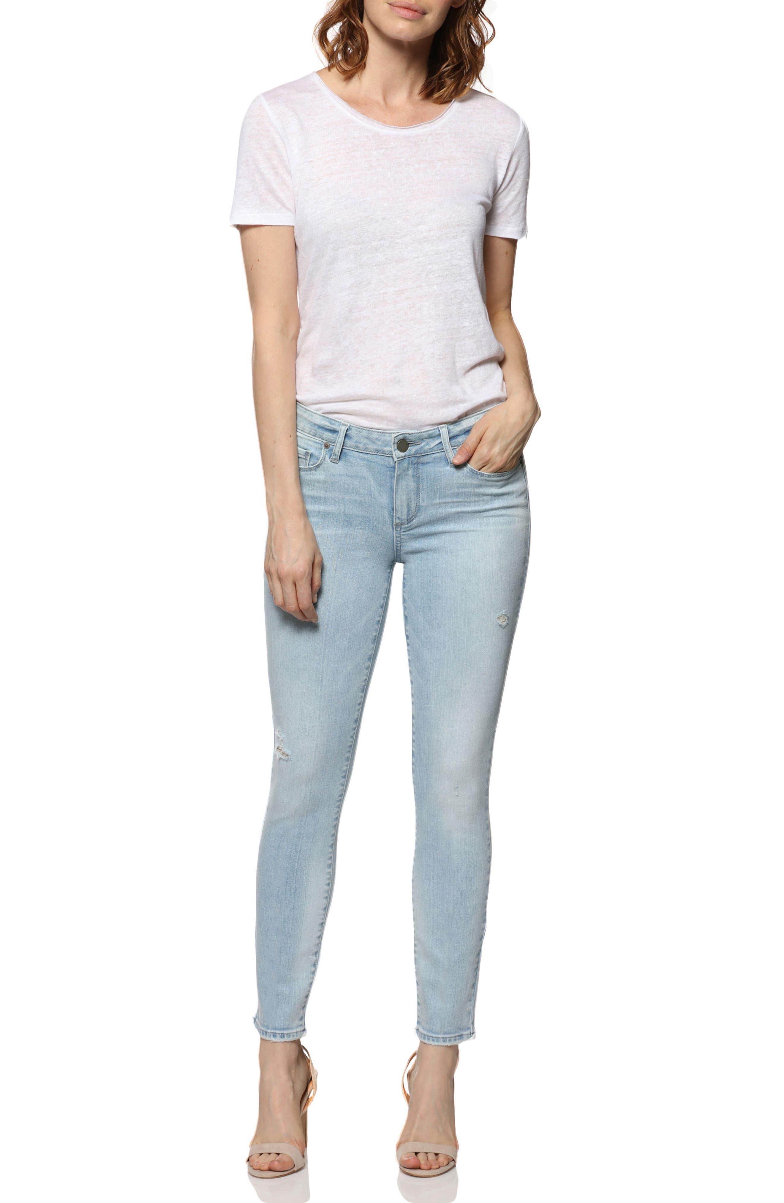 Verdugo Ankle Skinny Jeans,                             Alternate thumbnail 3, color,                             400