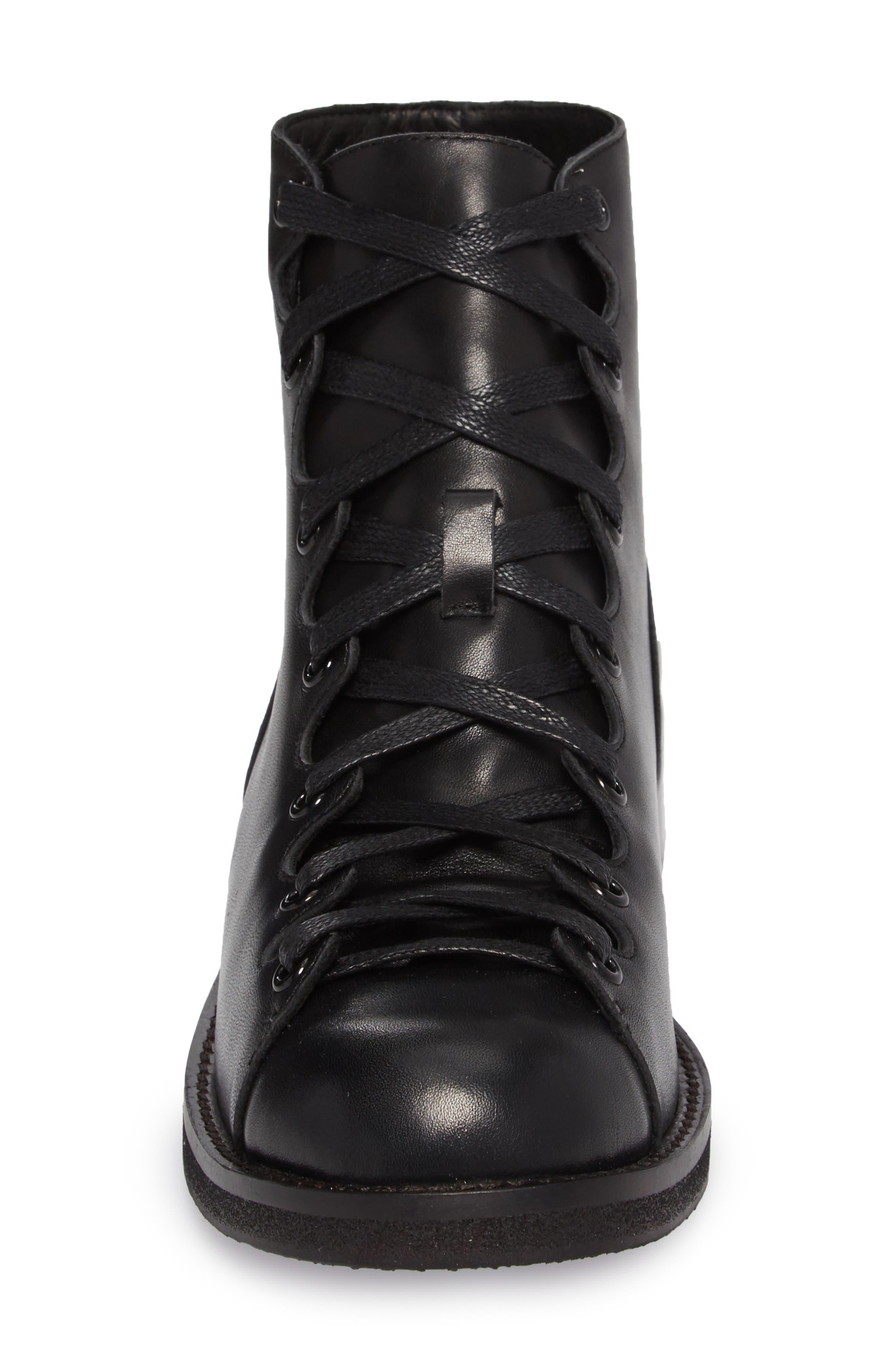 Jess Ghillie Combat Boot,                             Alternate thumbnail 4, color,                             001