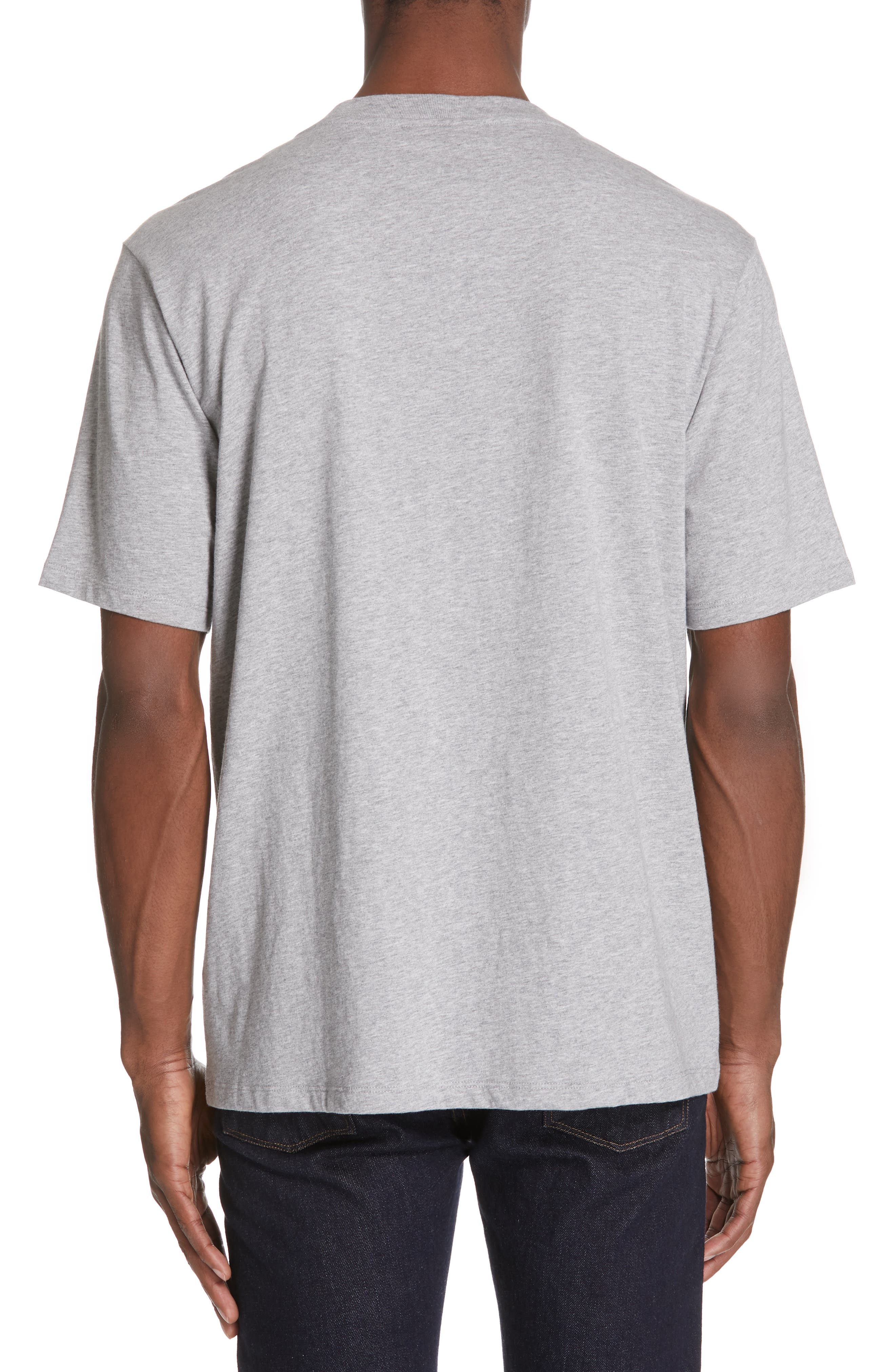 Lopori Logo T-Shirt,                             Alternate thumbnail 2, color,                             PALE GREY MELANGE
