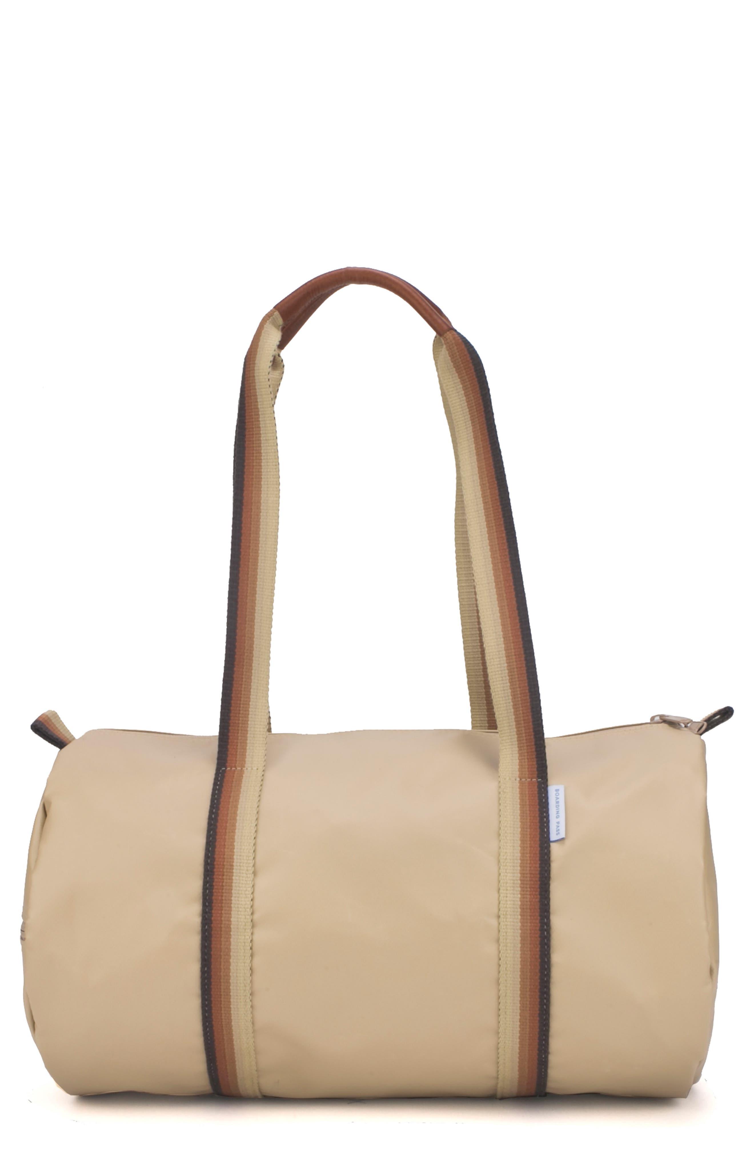 BOARDING PASS Lifestyle Duffel Bag - Brown in Tan