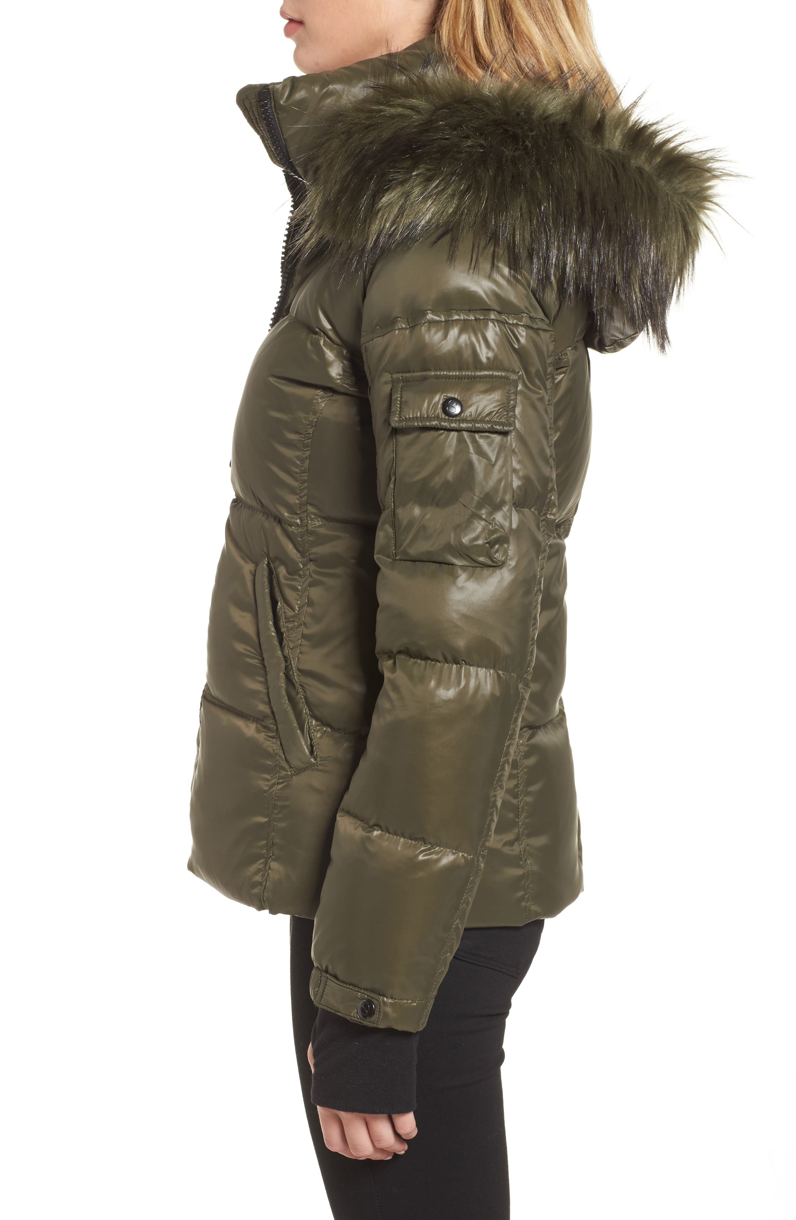 Kylie Faux Fur Trim Gloss Puffer Jacket,                             Alternate thumbnail 2, color,                             369