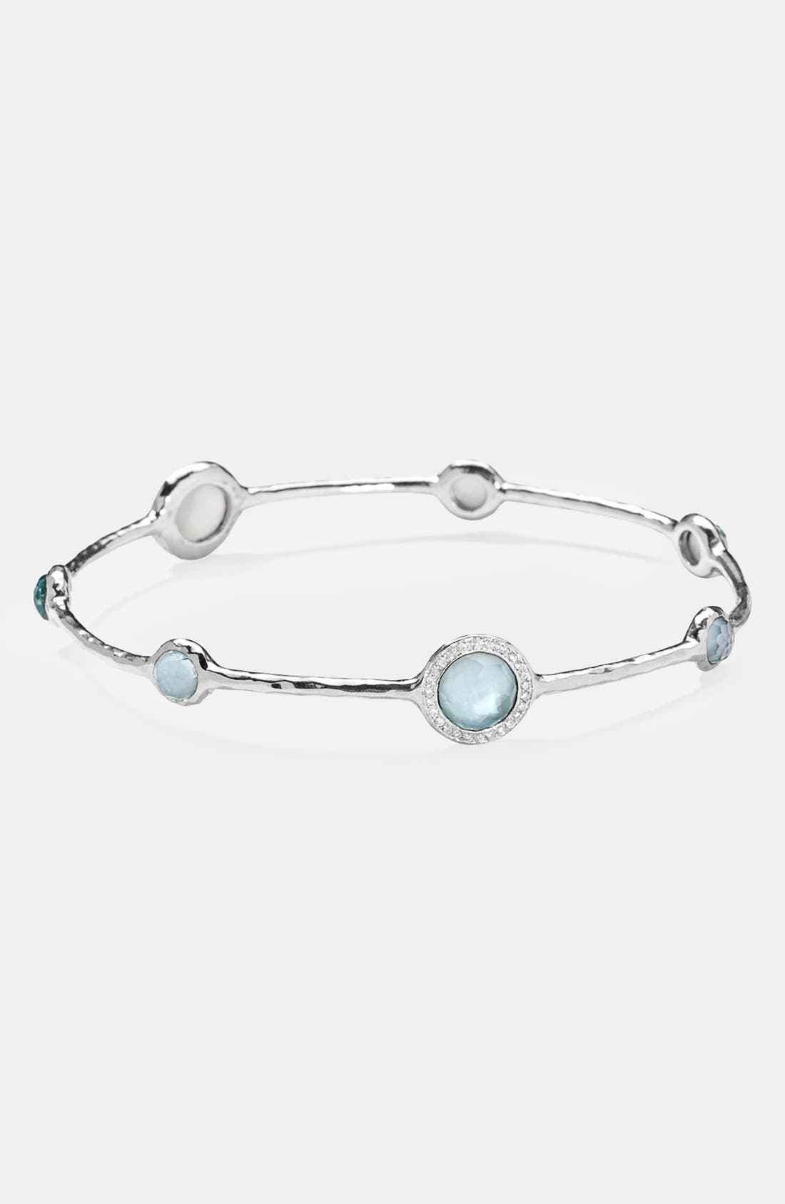 'Stella - Rock Candy' 6-Stone Bangle,                             Alternate thumbnail 2, color,                             SILVER/ BLUE TOPAZ