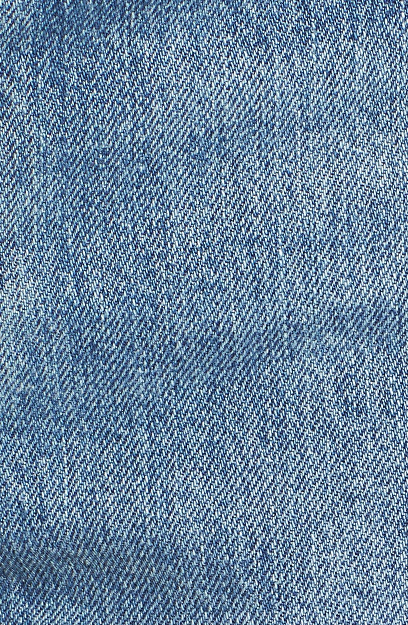 Wedgie High Waist Cutoff Denim Shorts,                             Alternate thumbnail 6, color,                             BLUE YOUR MIND