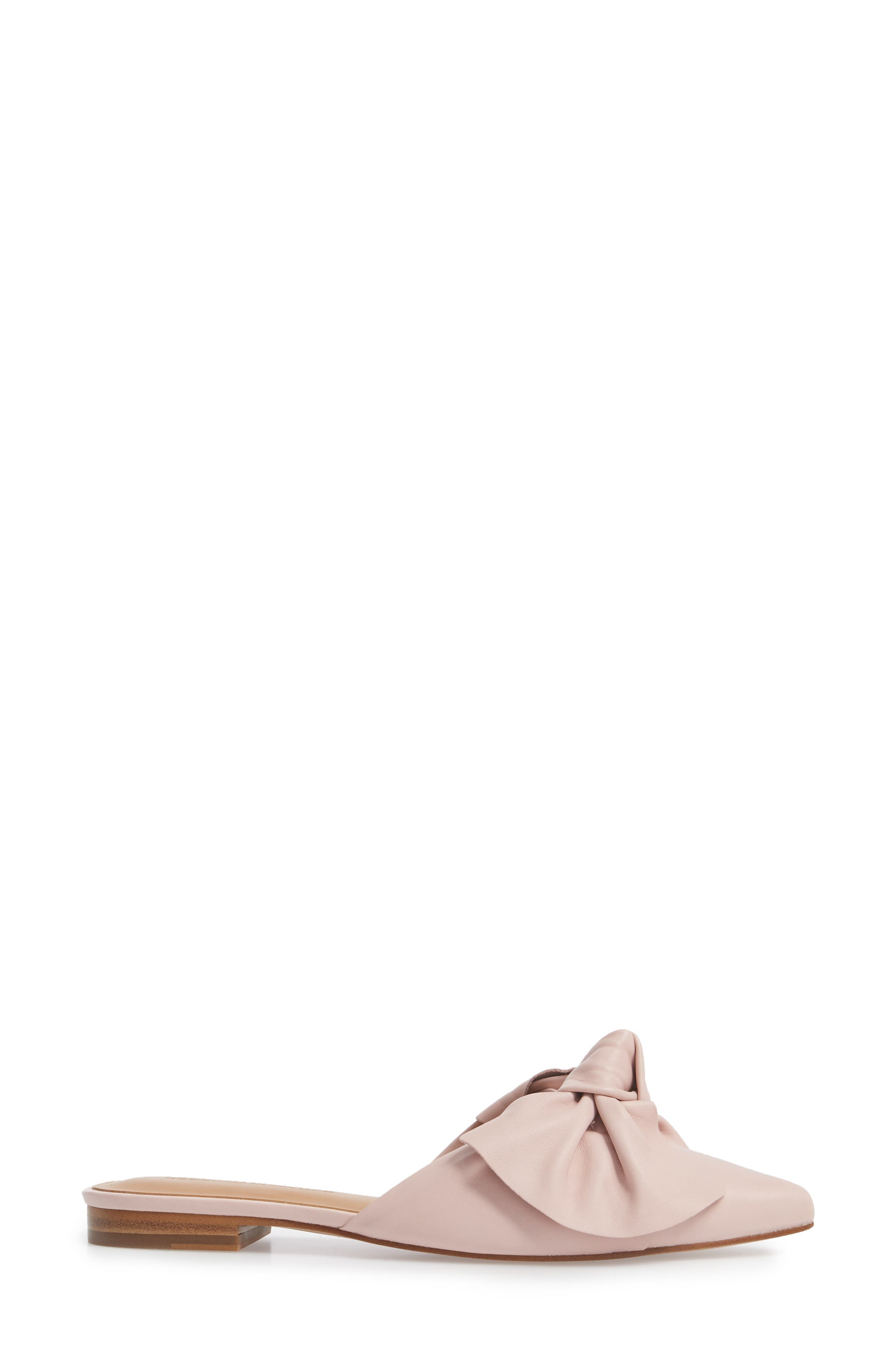 Alexis Bow Mule,                             Alternate thumbnail 3, color,                             MILLENNIAL PINK LEATHER