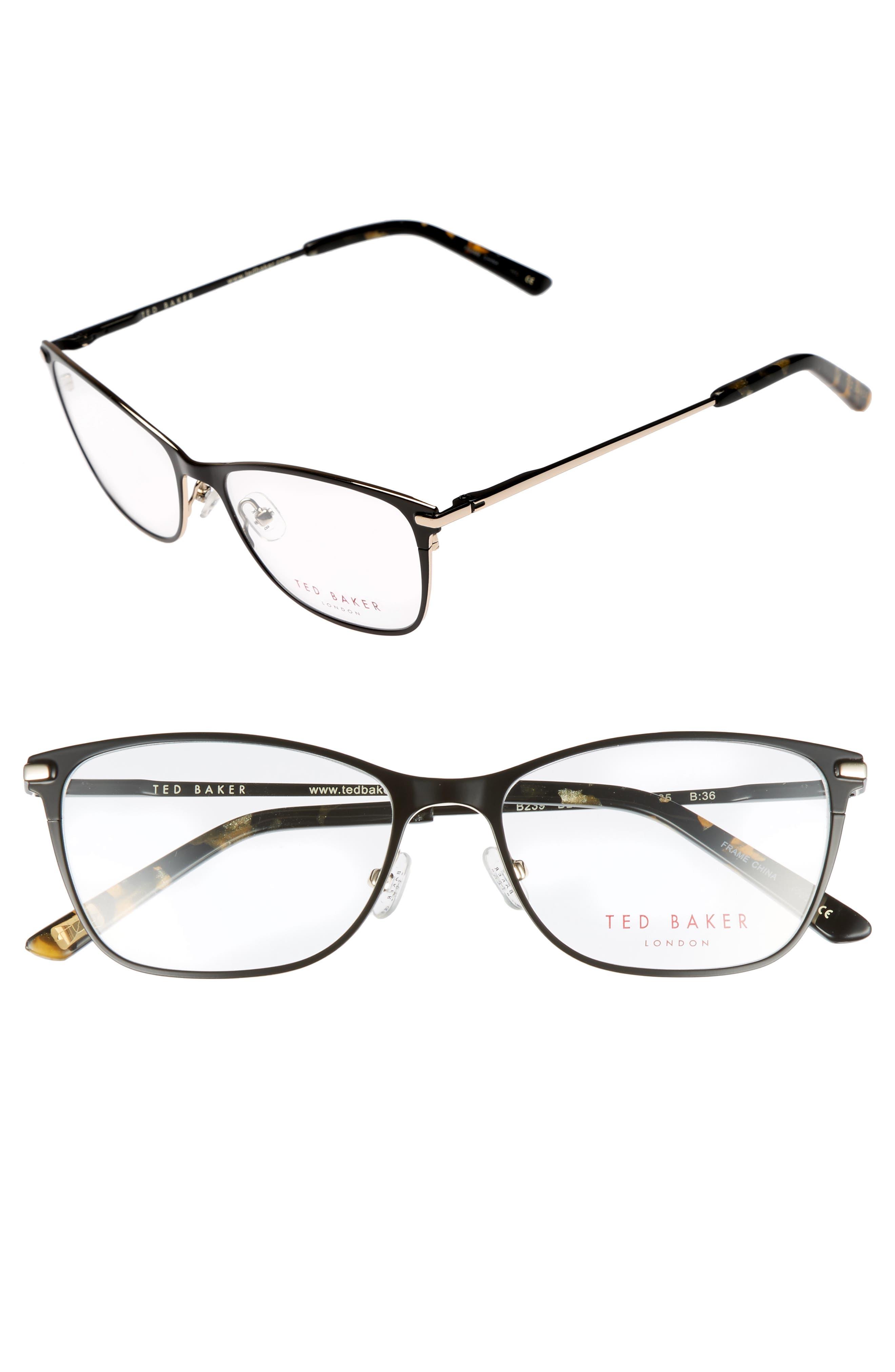 51mm Metal Cat Eye Optical Glasses,                             Main thumbnail 1, color,                             001