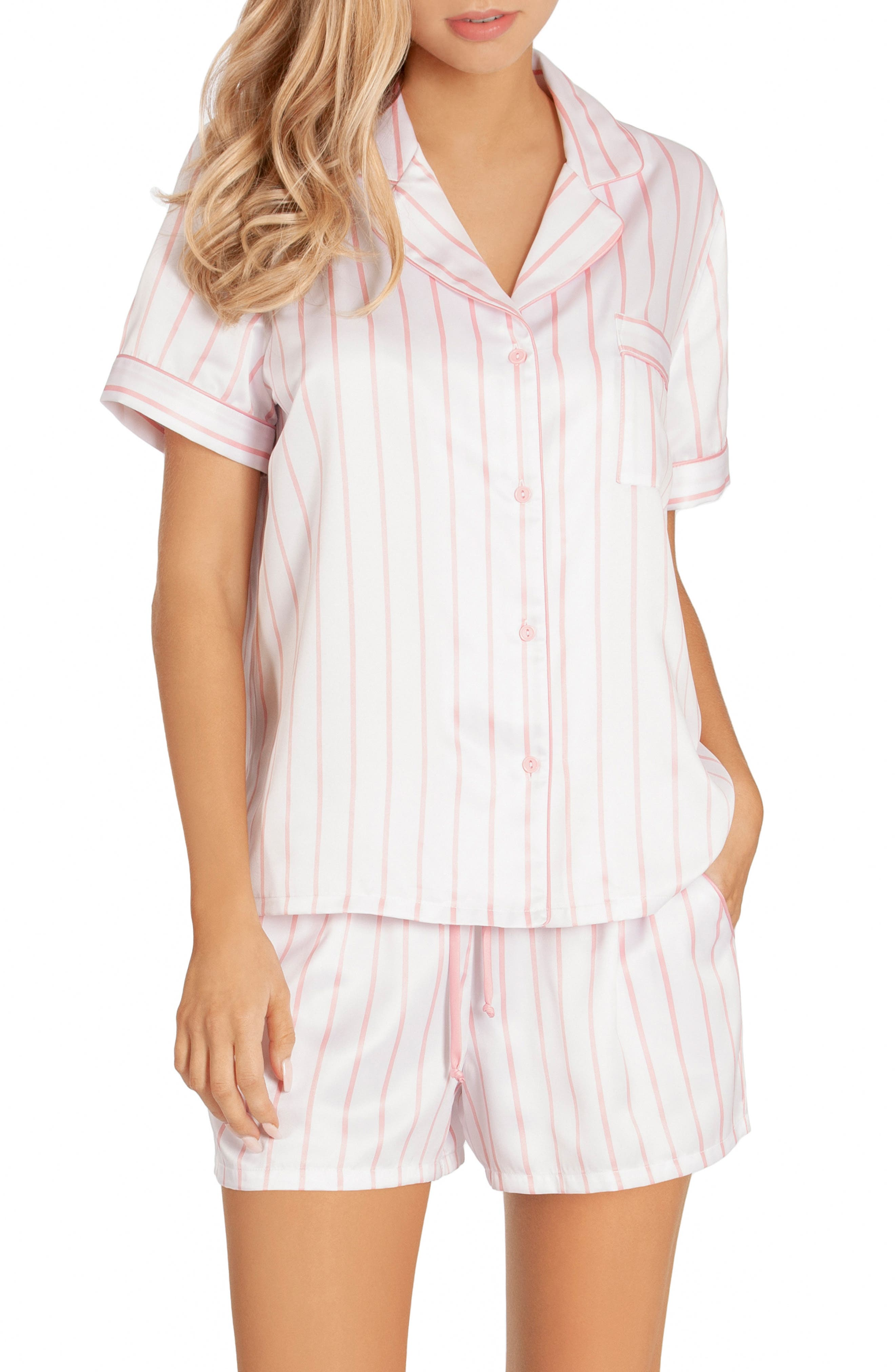 In Bloom By Jonquil Satin Short Pajamas, Pink