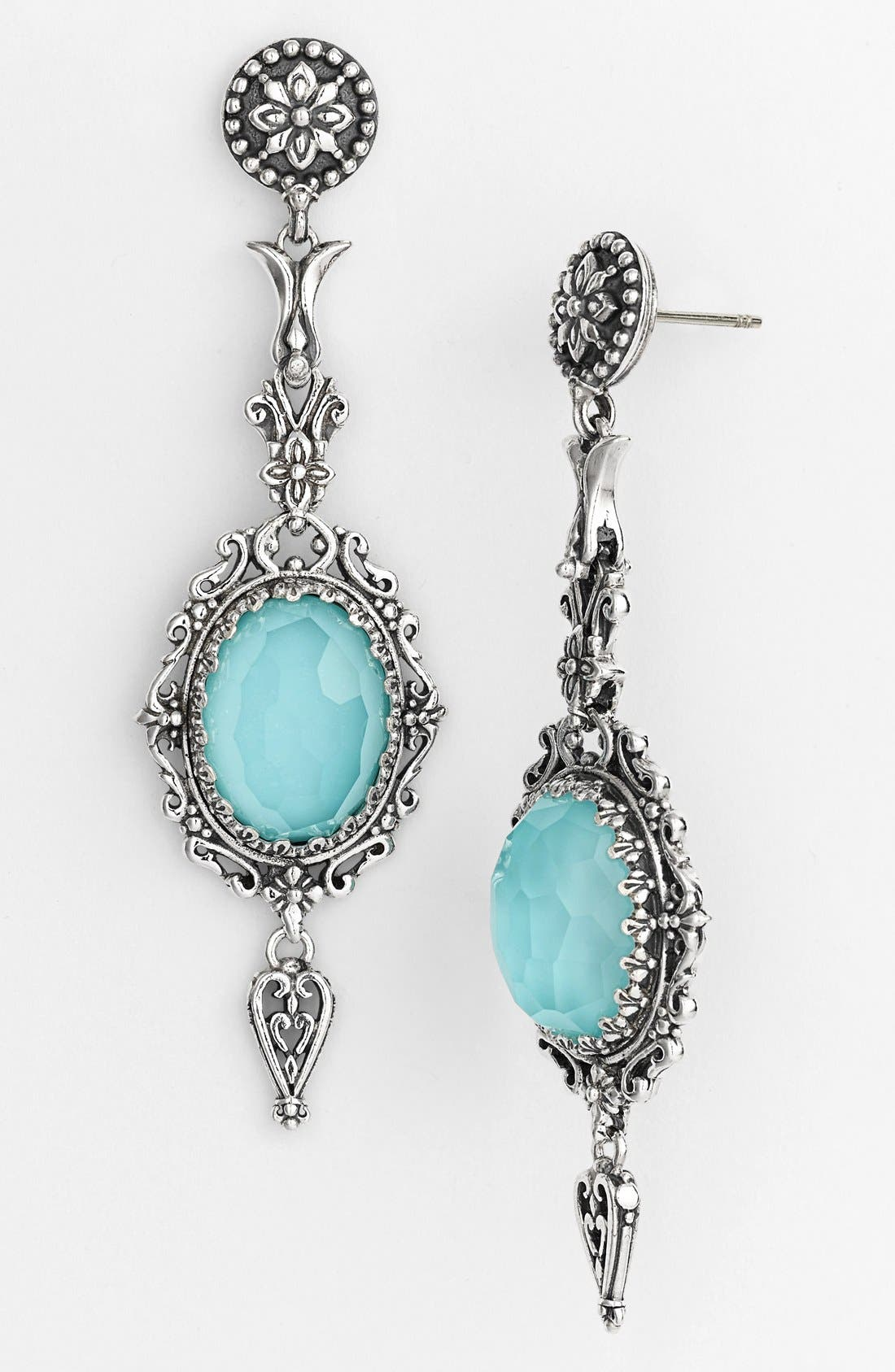 'Aegean' Drop Earrings,                         Main,                         color, SILVER/ TURQUOISE