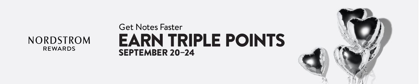 Nordstrom Rewards. Get Notes even faster: earn triple points September 20–24.