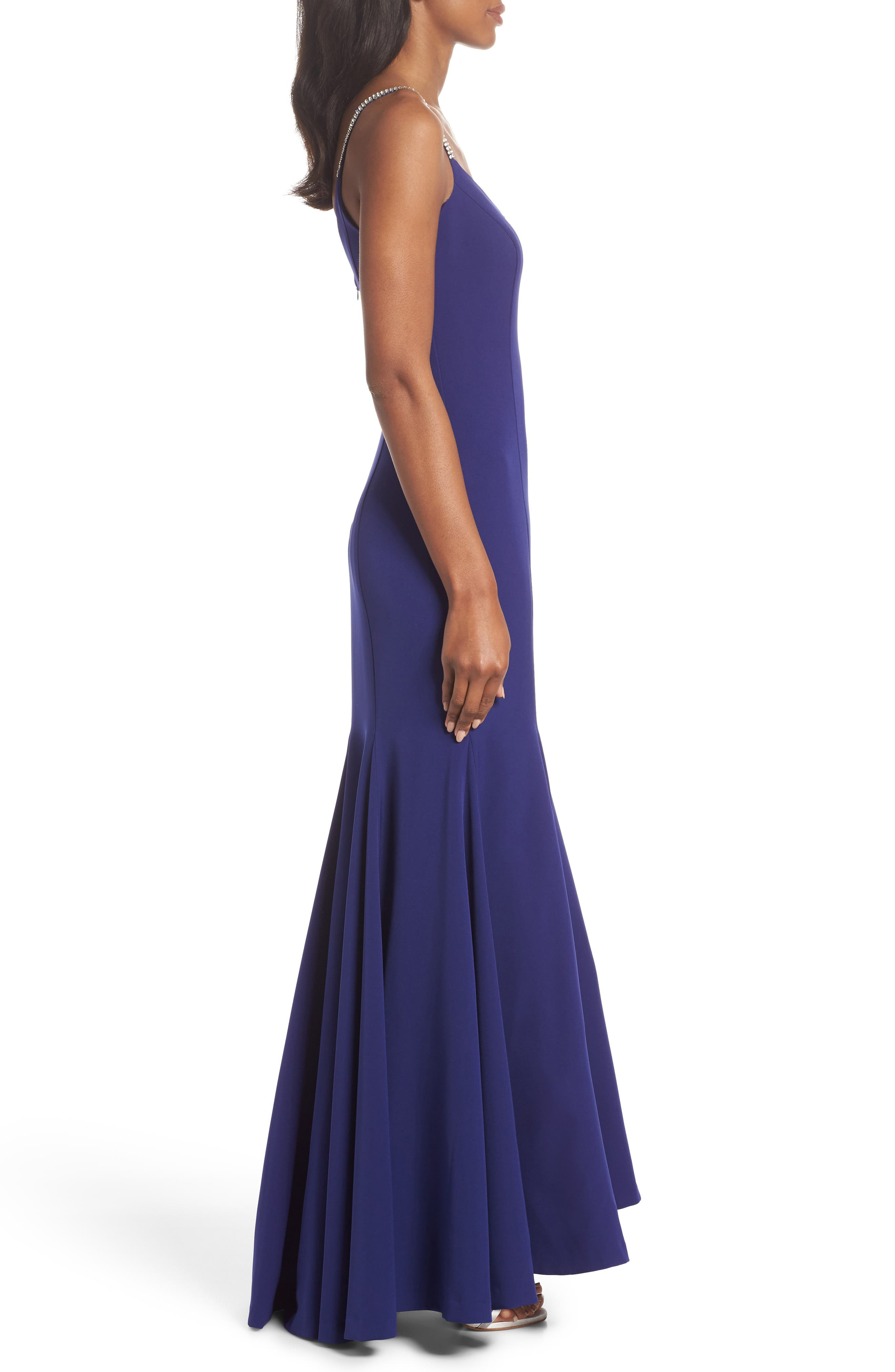 VINCE CAMUTO,                             Laguna Crystal Strap Mermaid Gown,                             Alternate thumbnail 4, color,                             430