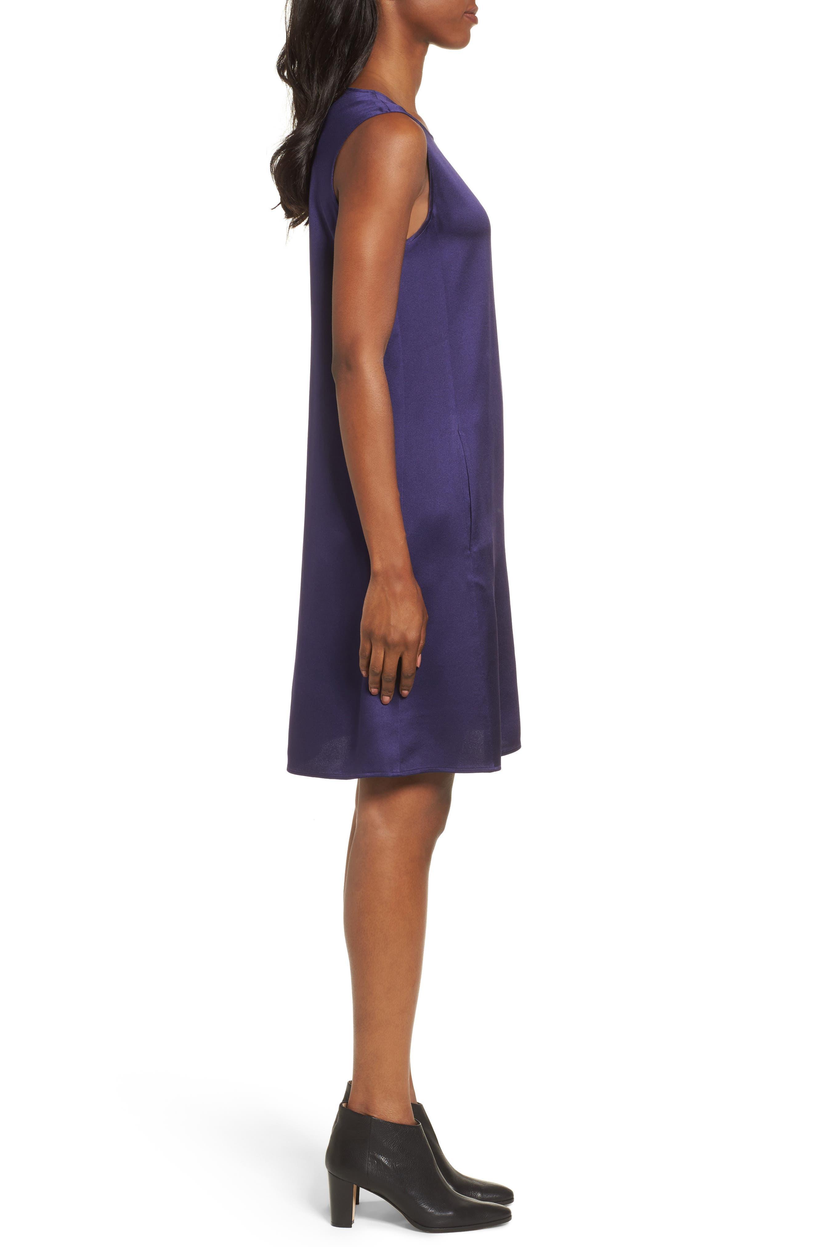 Silk Shift Dress,                             Alternate thumbnail 8, color,