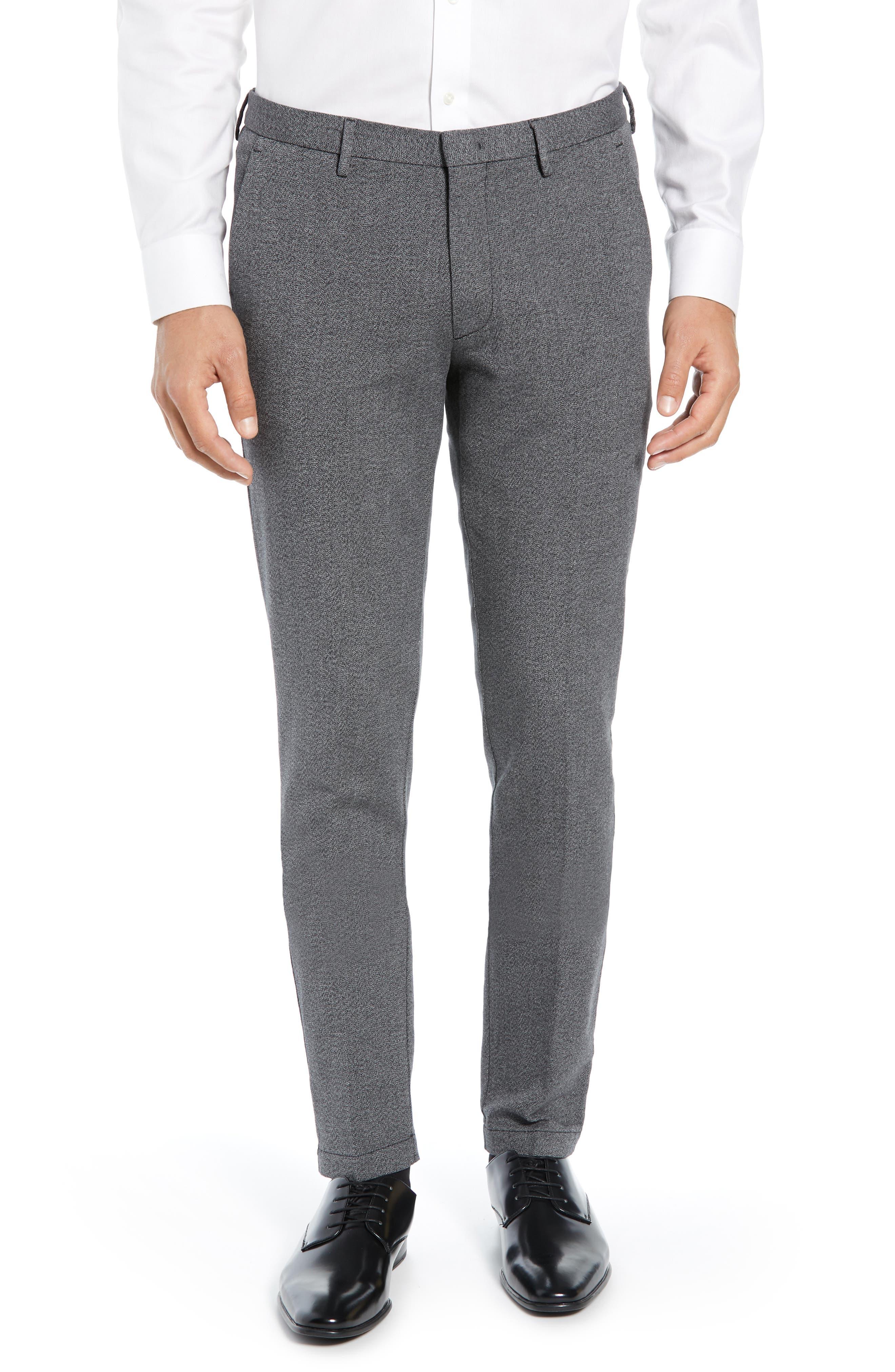 Kaito Slim Fit Twill Trousers,                             Main thumbnail 1, color,                             BLACK
