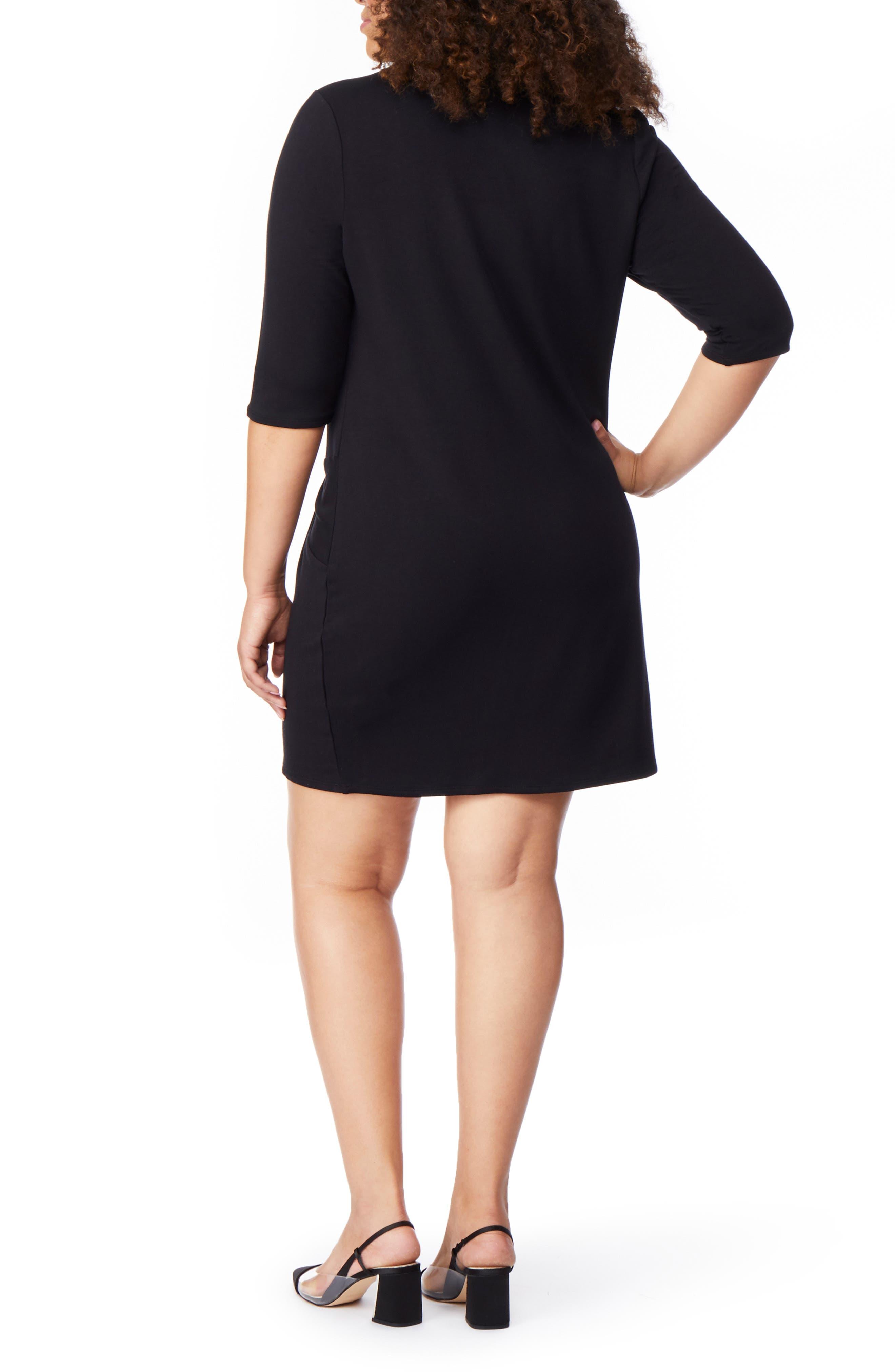Twist Dress,                             Alternate thumbnail 2, color,                             BLACK