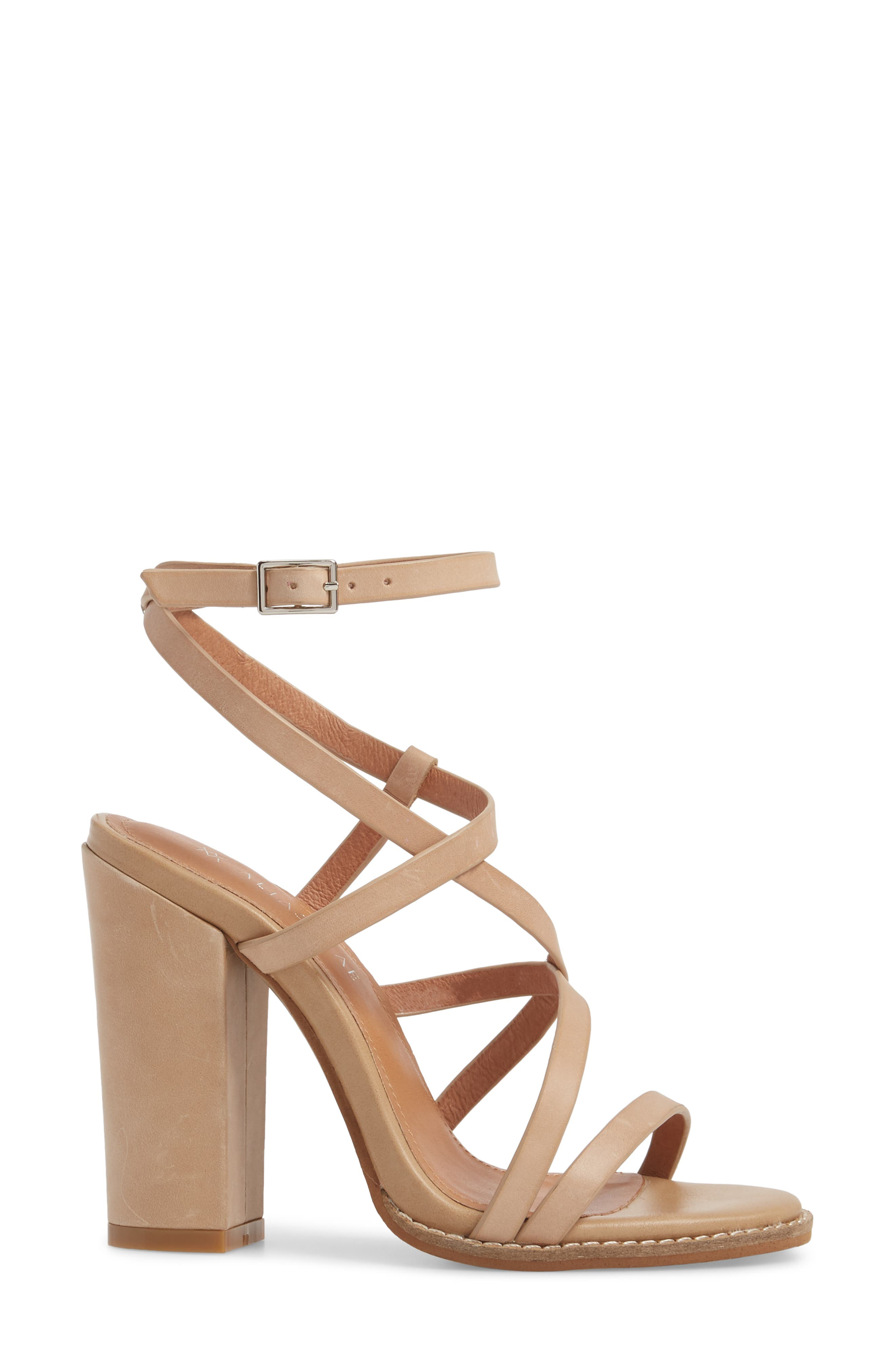 Jyve Asymmetrical Cross Strap Sandal,                             Alternate thumbnail 3, color,