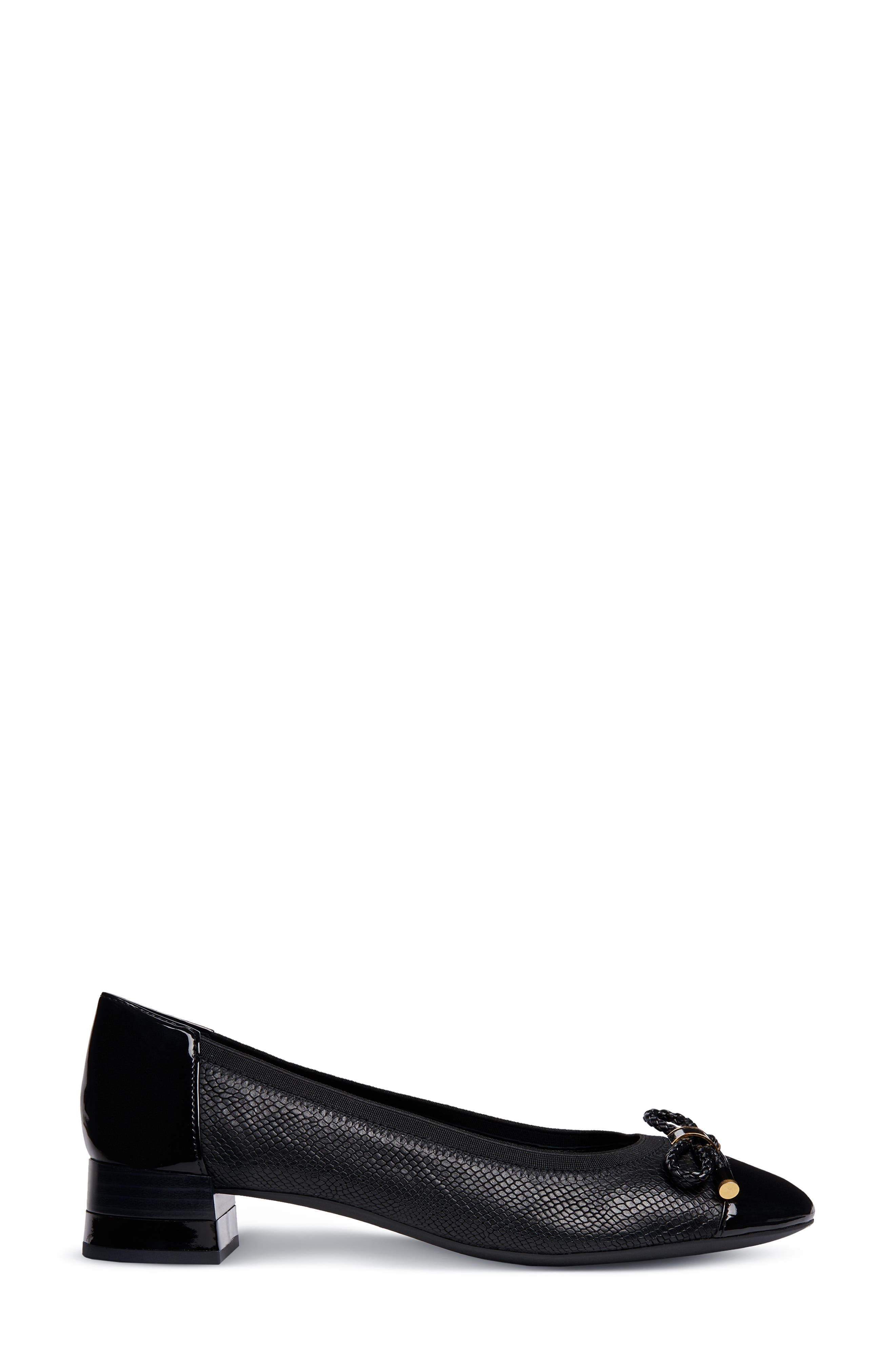 Chloo Pump,                             Alternate thumbnail 3, color,                             BLACK LEATHER