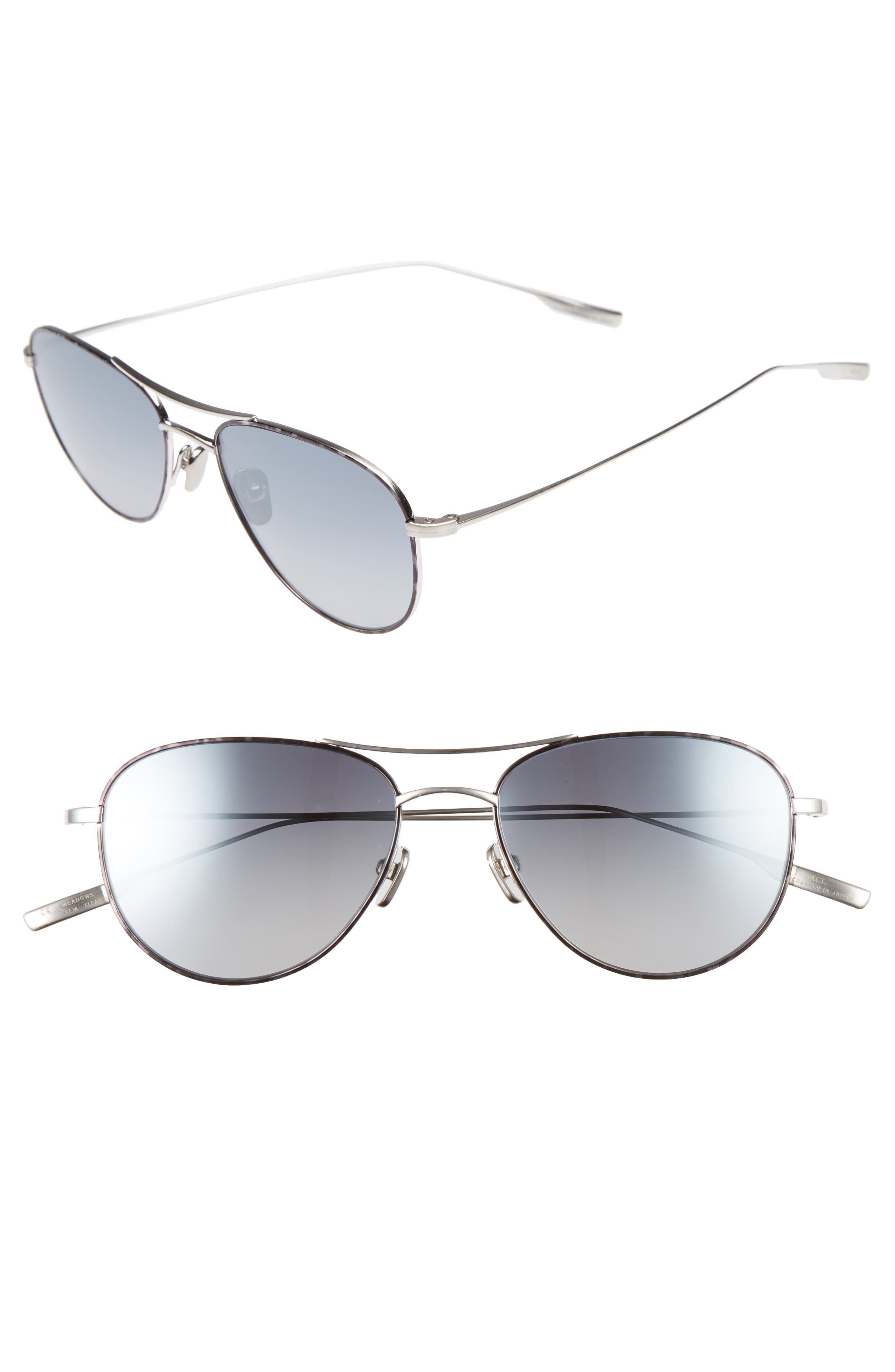 'Meadows' 54mm Polarized Aviator Sunglasses,                             Main thumbnail 1, color,                             TEMPEST
