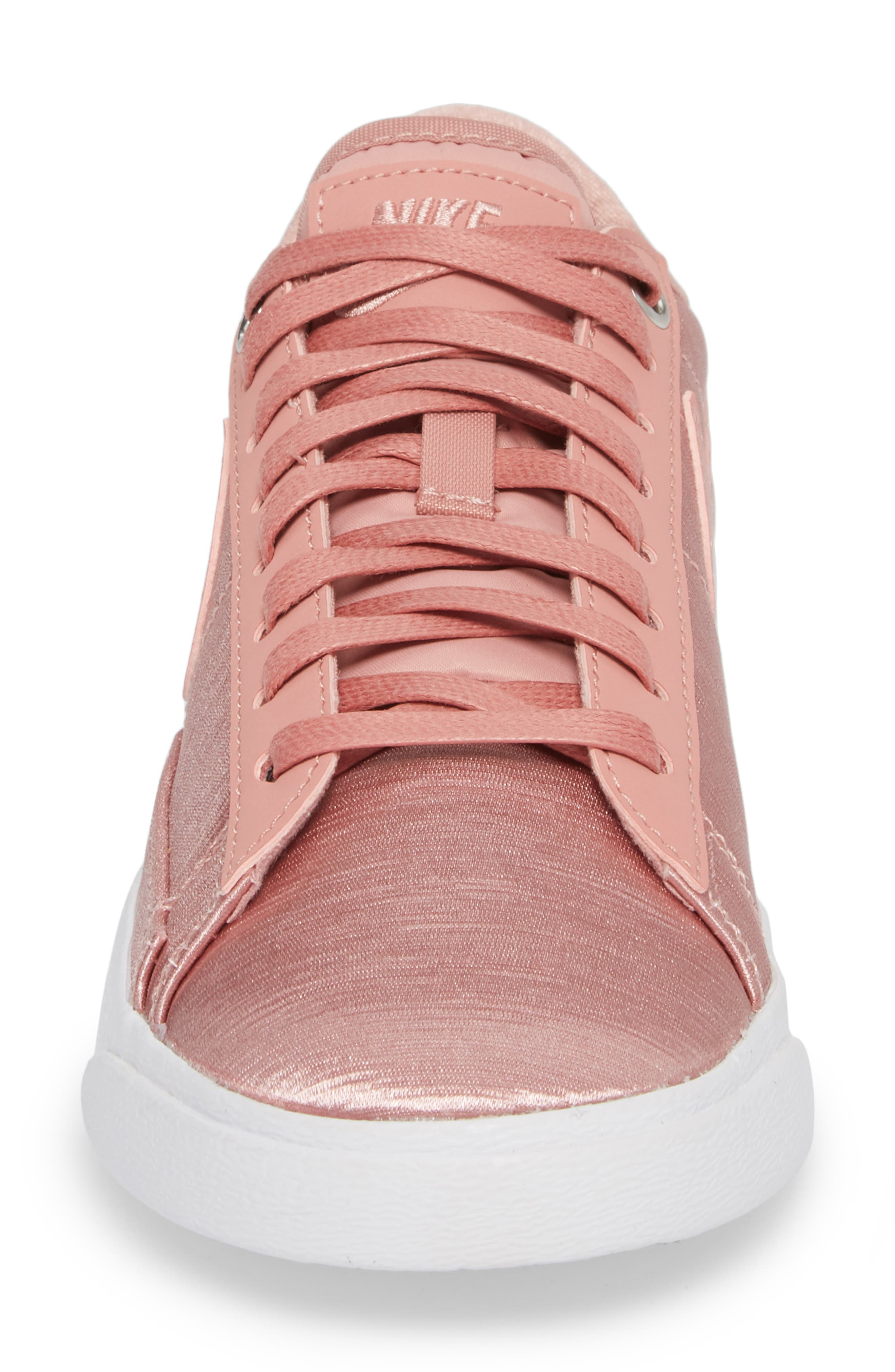 Blazer Low SE Sneaker,                             Alternate thumbnail 4, color,                             RUST PINK/ RUST PINK