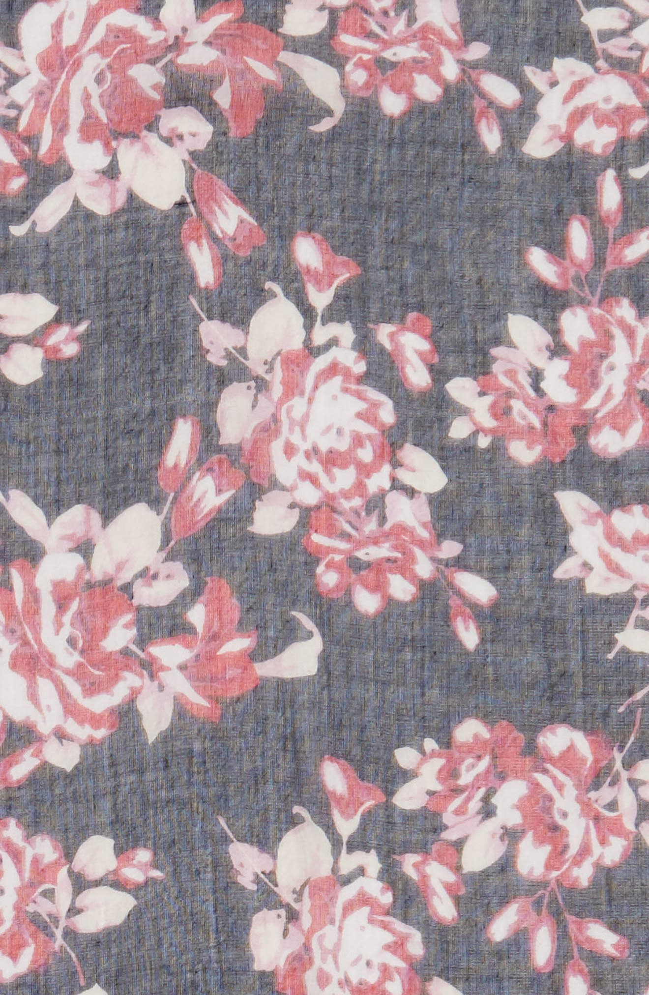 Floral Print Scarf,                             Alternate thumbnail 4, color,                             400