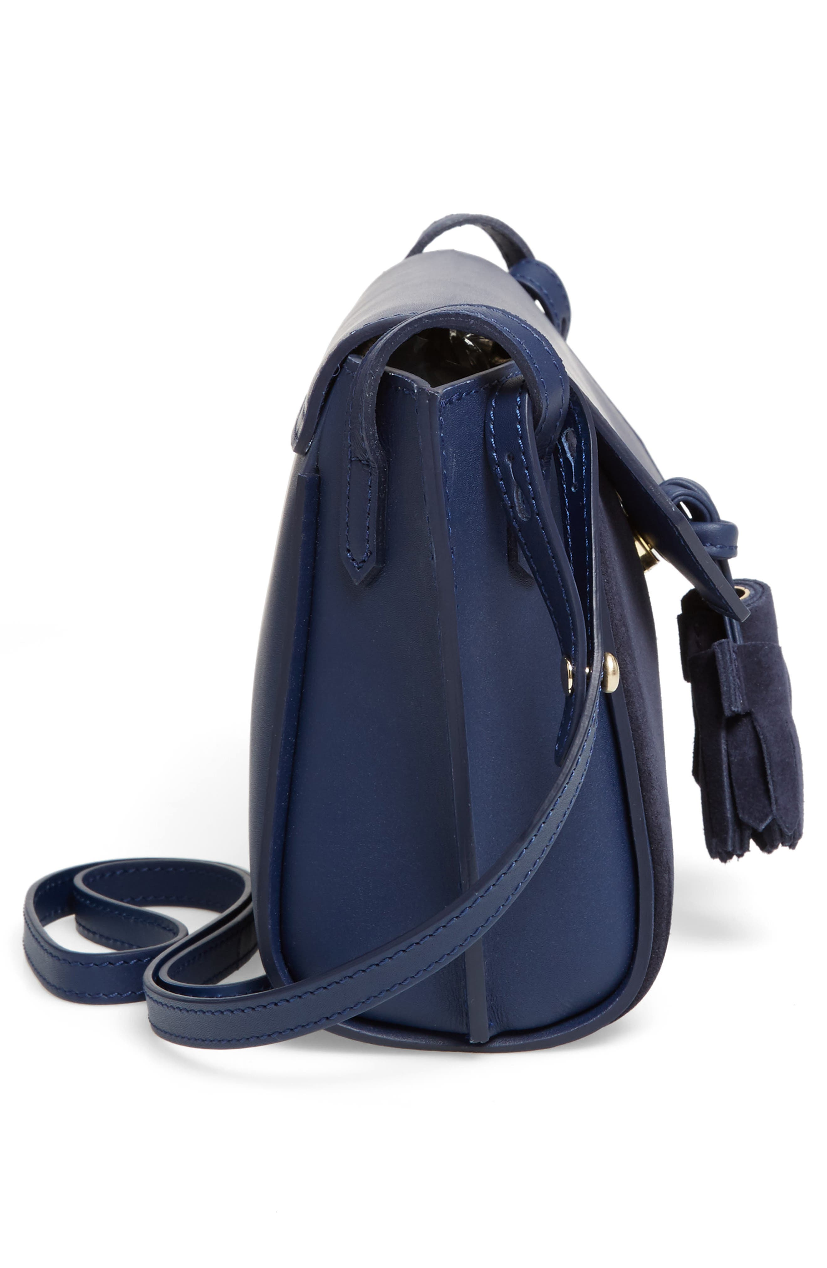 Small Penelope Leather Crossbody Bag,                             Alternate thumbnail 5, color,                             400