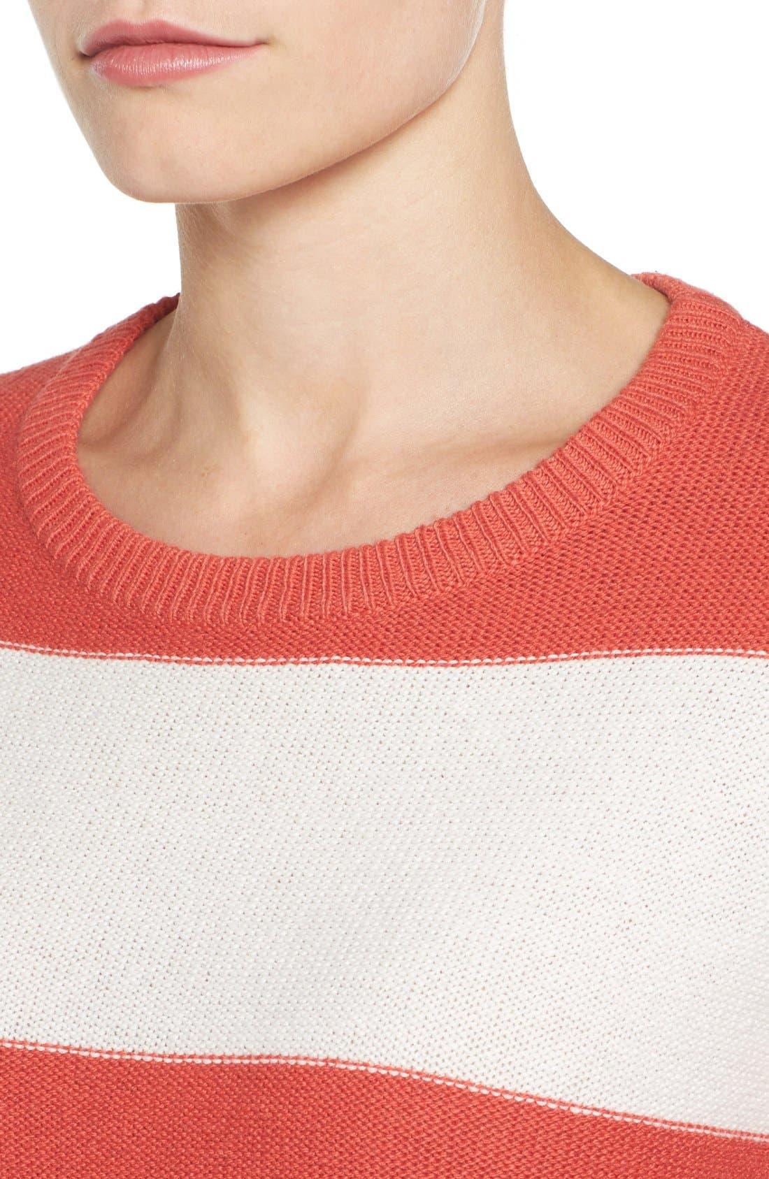 Contrast Cuff Crewneck Sweater,                             Alternate thumbnail 42, color,
