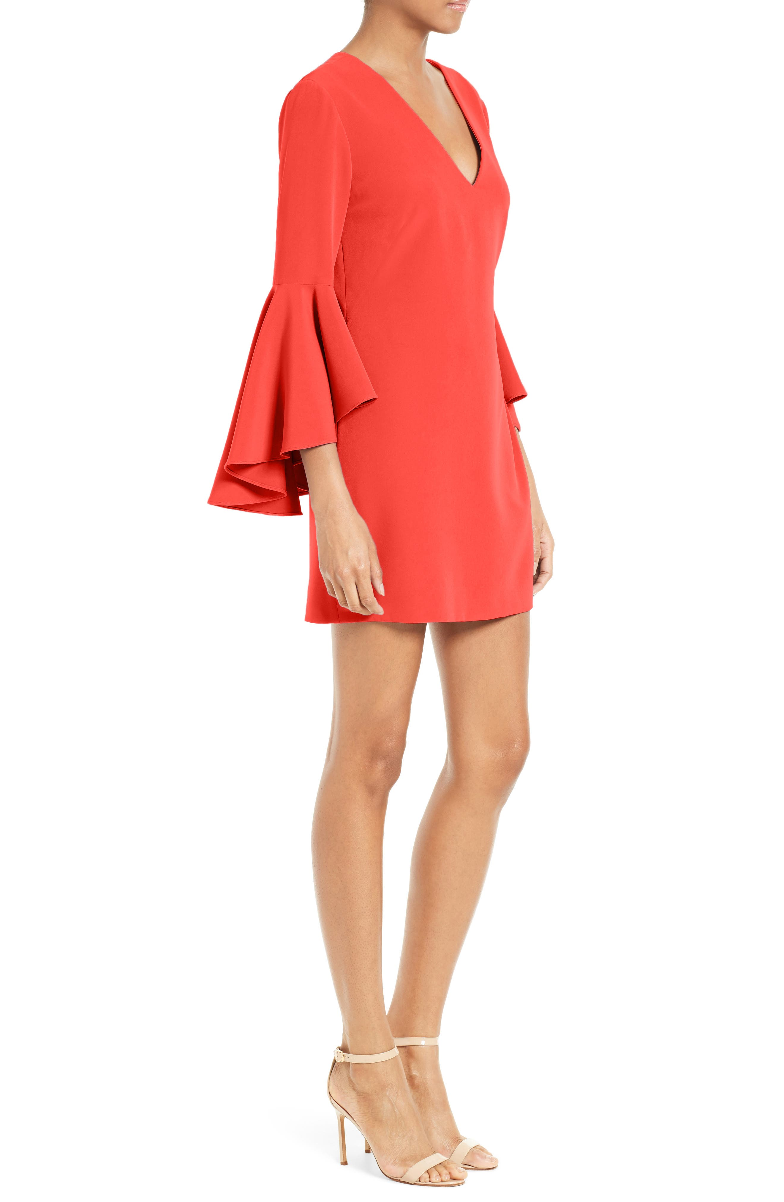 Nicole Bell Sleeve Dress,                             Alternate thumbnail 40, color,