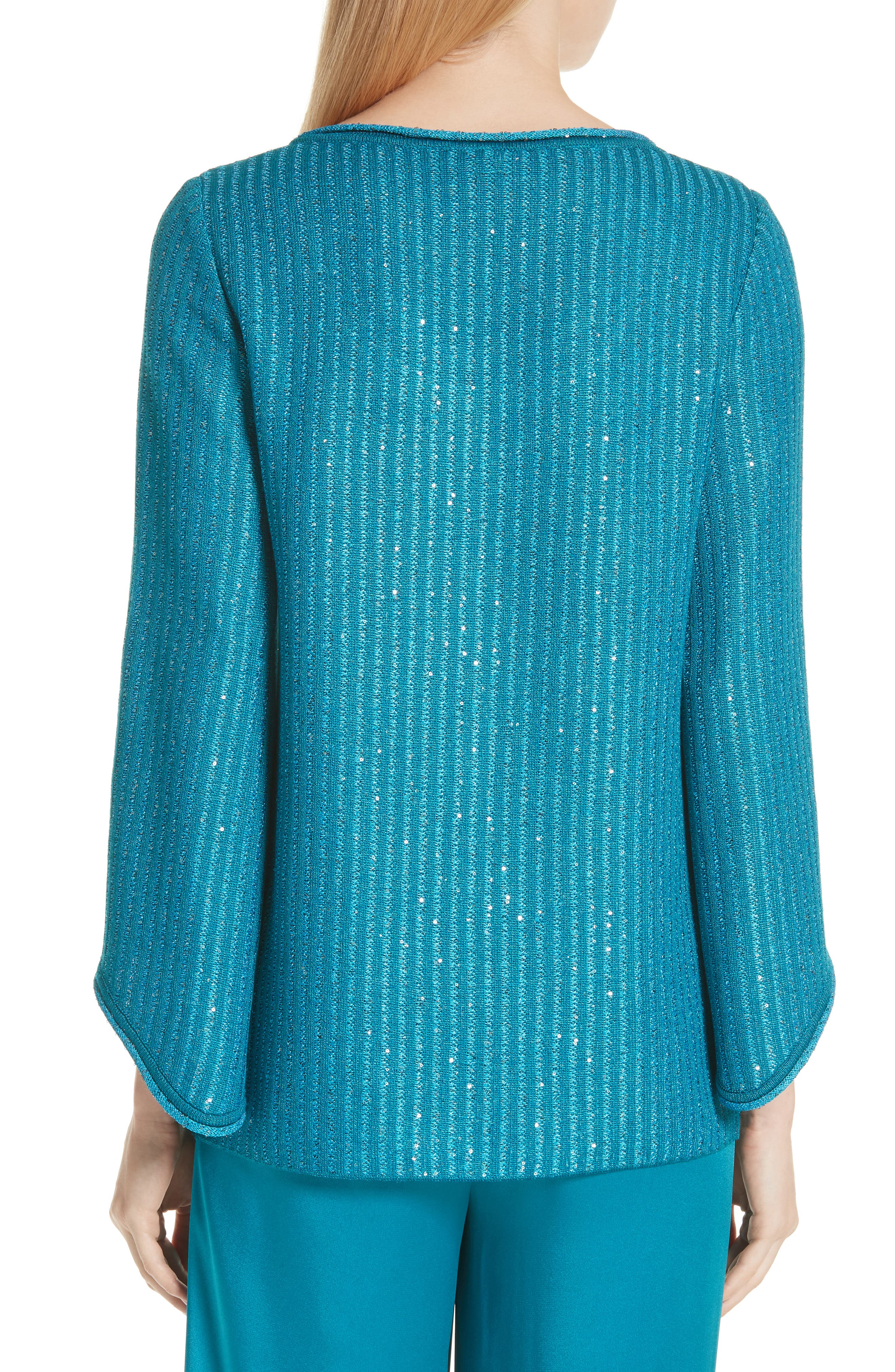Sequin Rib Knit Sweater,                             Alternate thumbnail 2, color,                             400