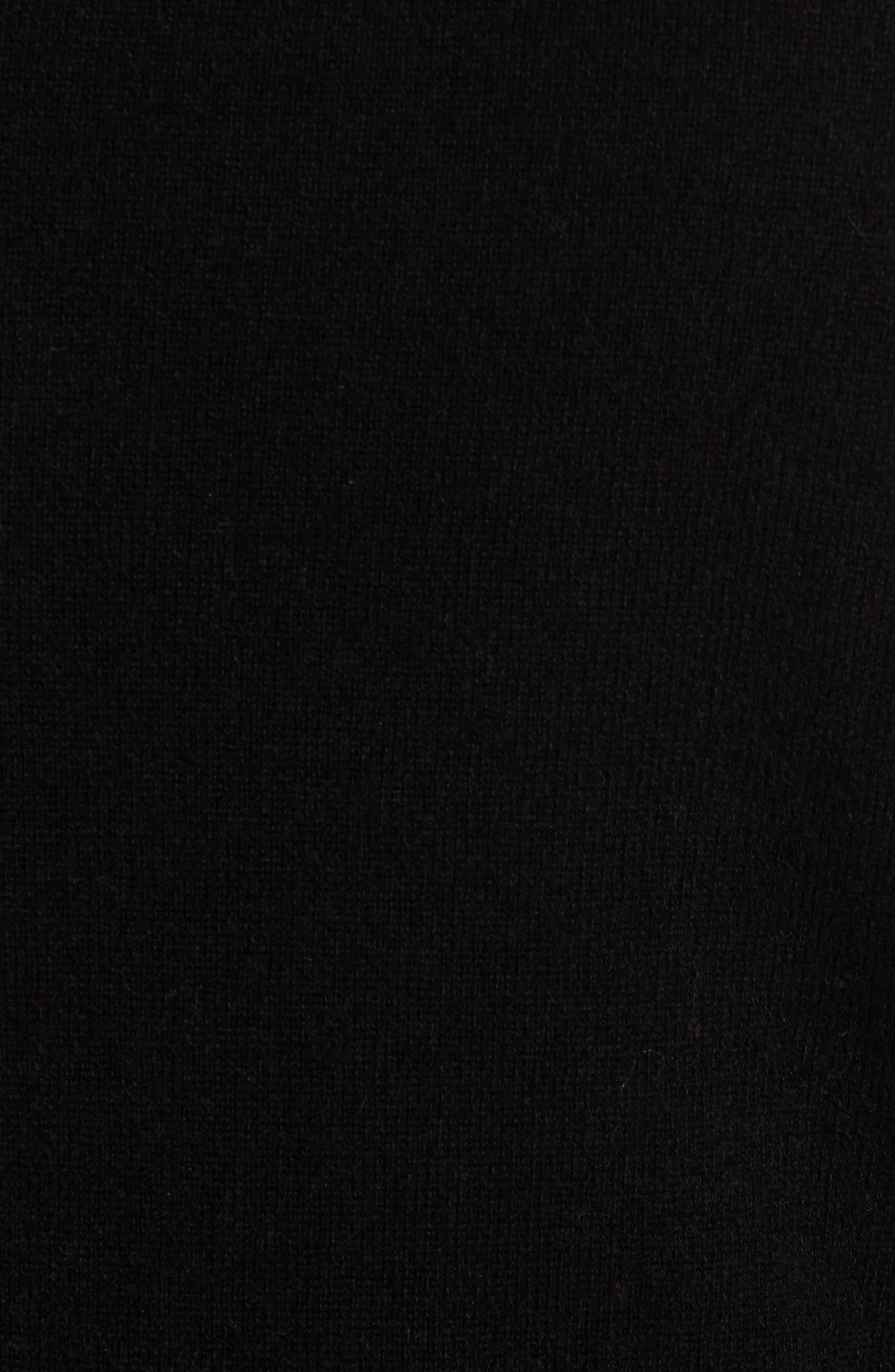 NORDSTROM MEN'S SHOP,                             Cashmere V-Neck Sweater,                             Alternate thumbnail 5, color,                             BLACK CAVIAR