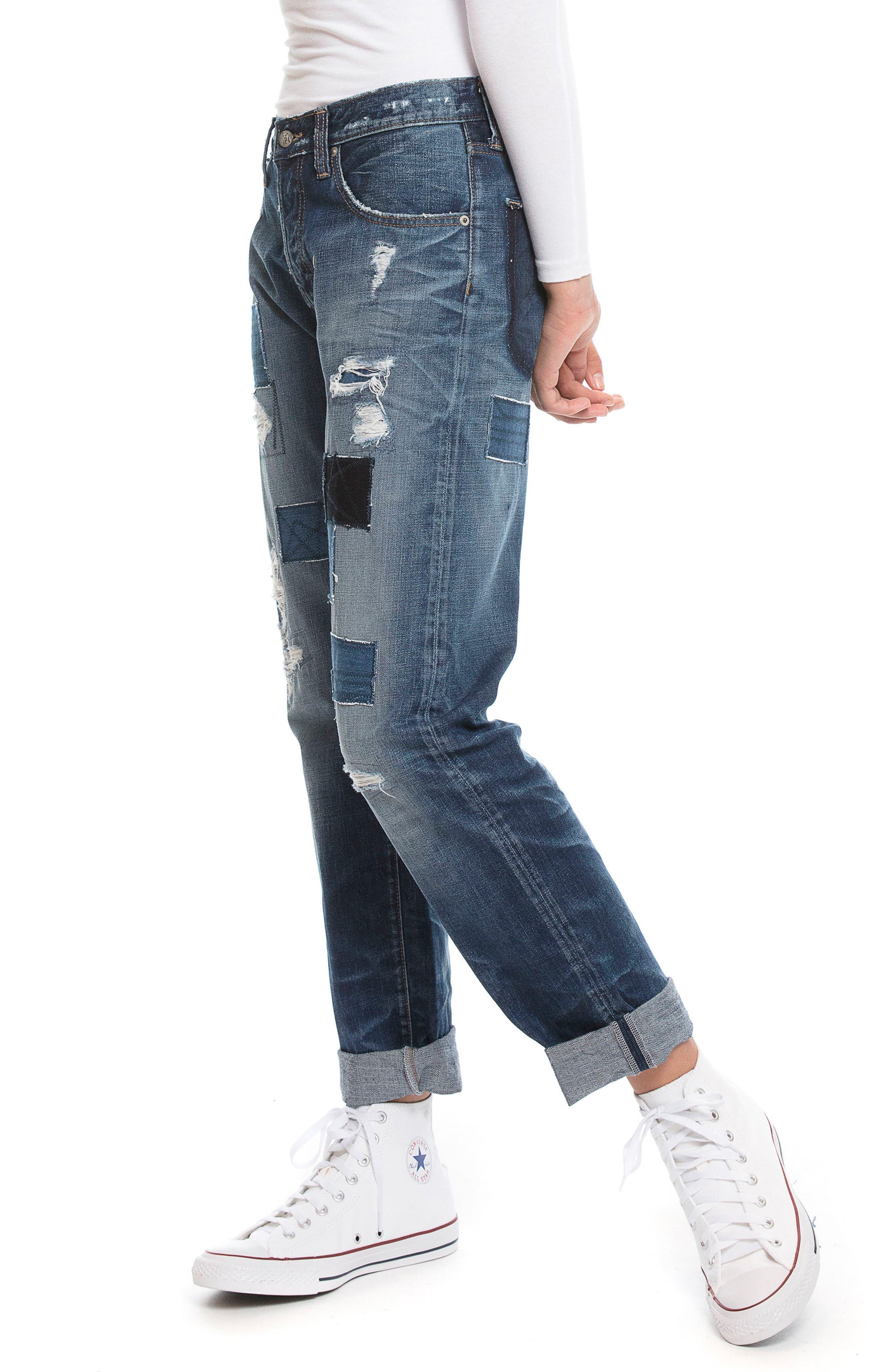 El Camino - Patch It Boyfriend Jeans,                         Main,                         color, INDIGO