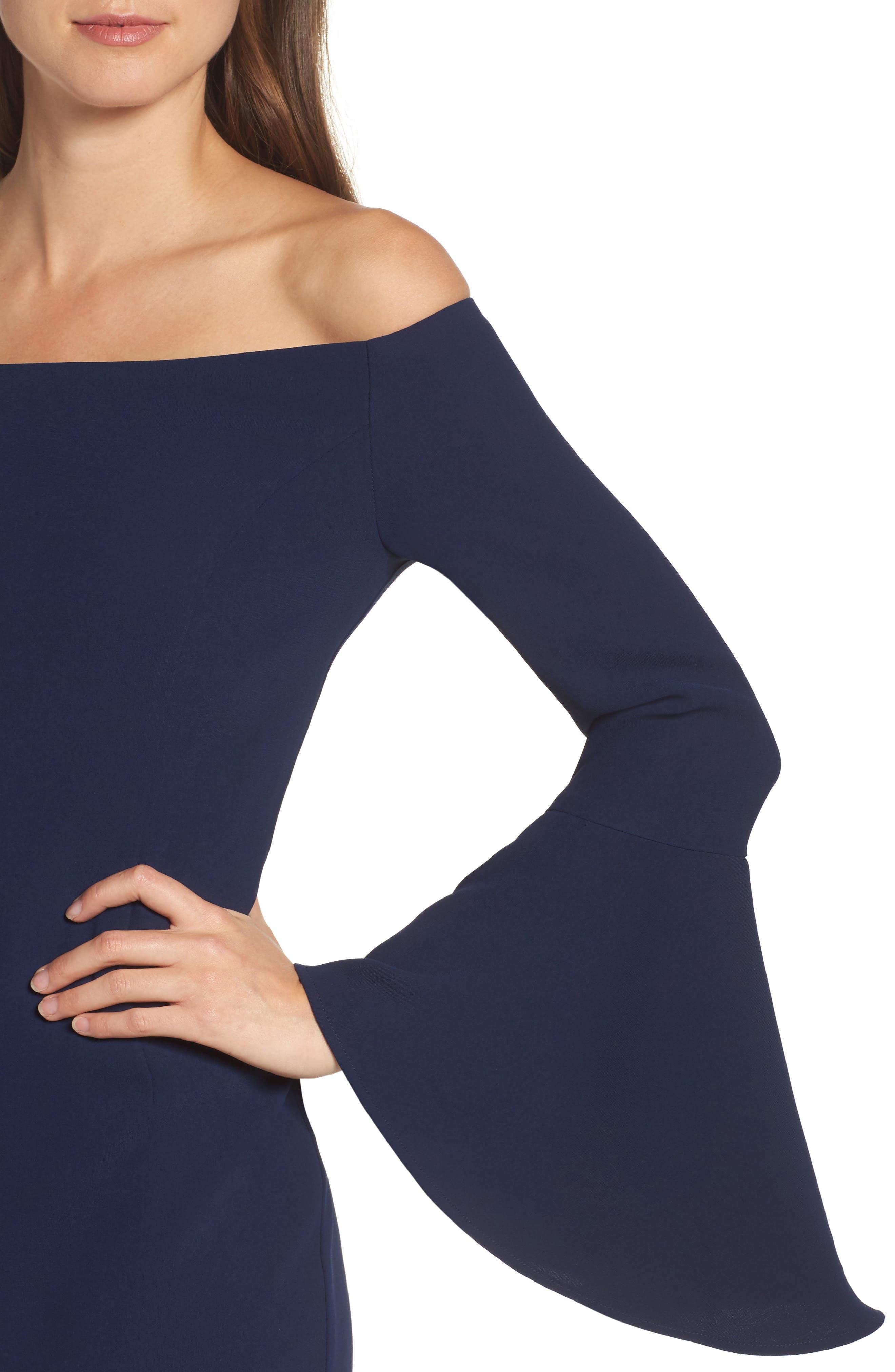 'Solange' Off the Shoulder Midi Dress,                             Alternate thumbnail 15, color,