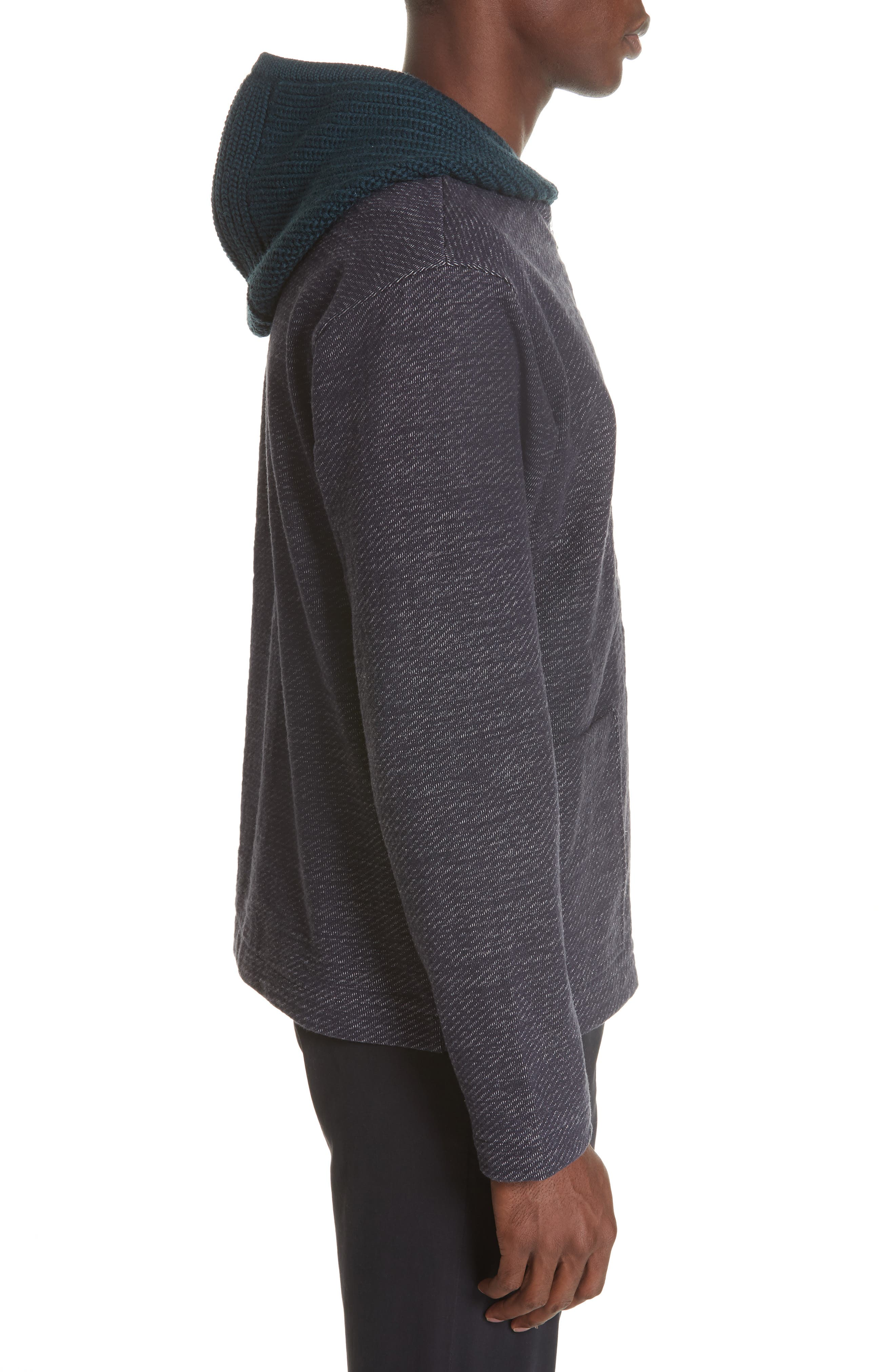 Hooded Cardigan,                             Alternate thumbnail 3, color,                             NAVY
