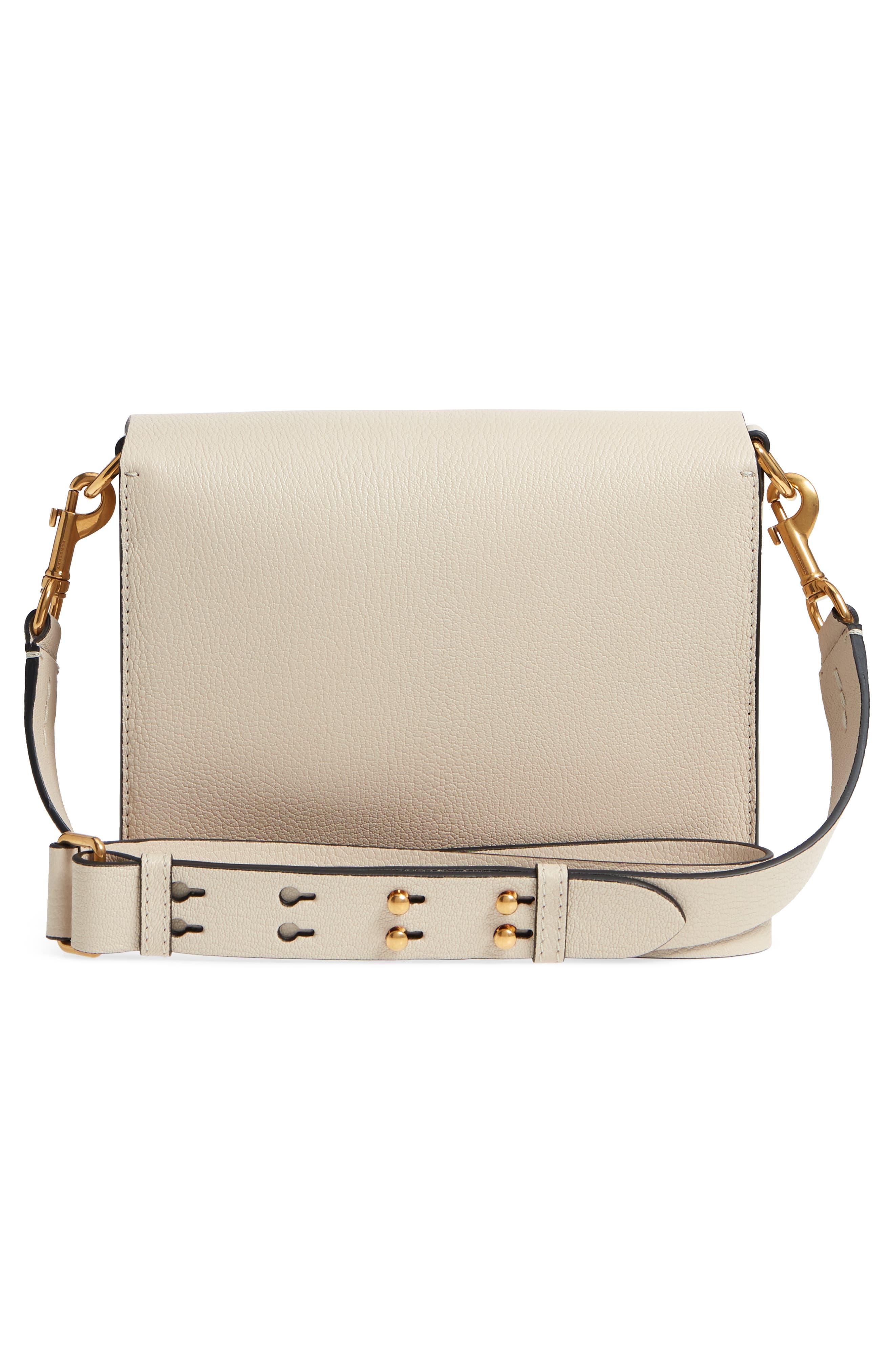 Square Leather Shoulder Bag,                             Alternate thumbnail 3, color,                             250