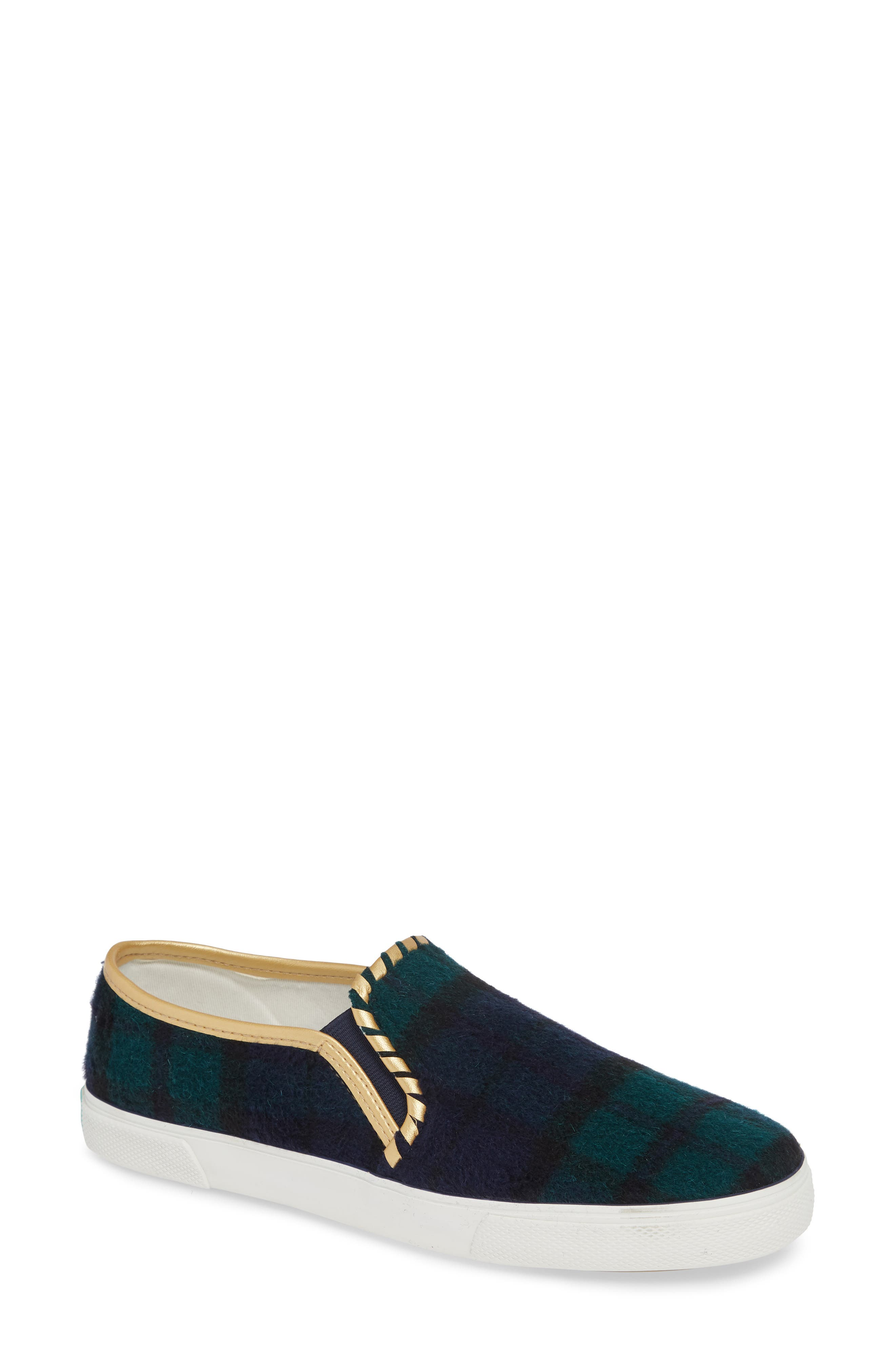 Brynne Slip-On Sneaker,                             Main thumbnail 1, color,                             MIDNIGHT/ GREEN FABRIC