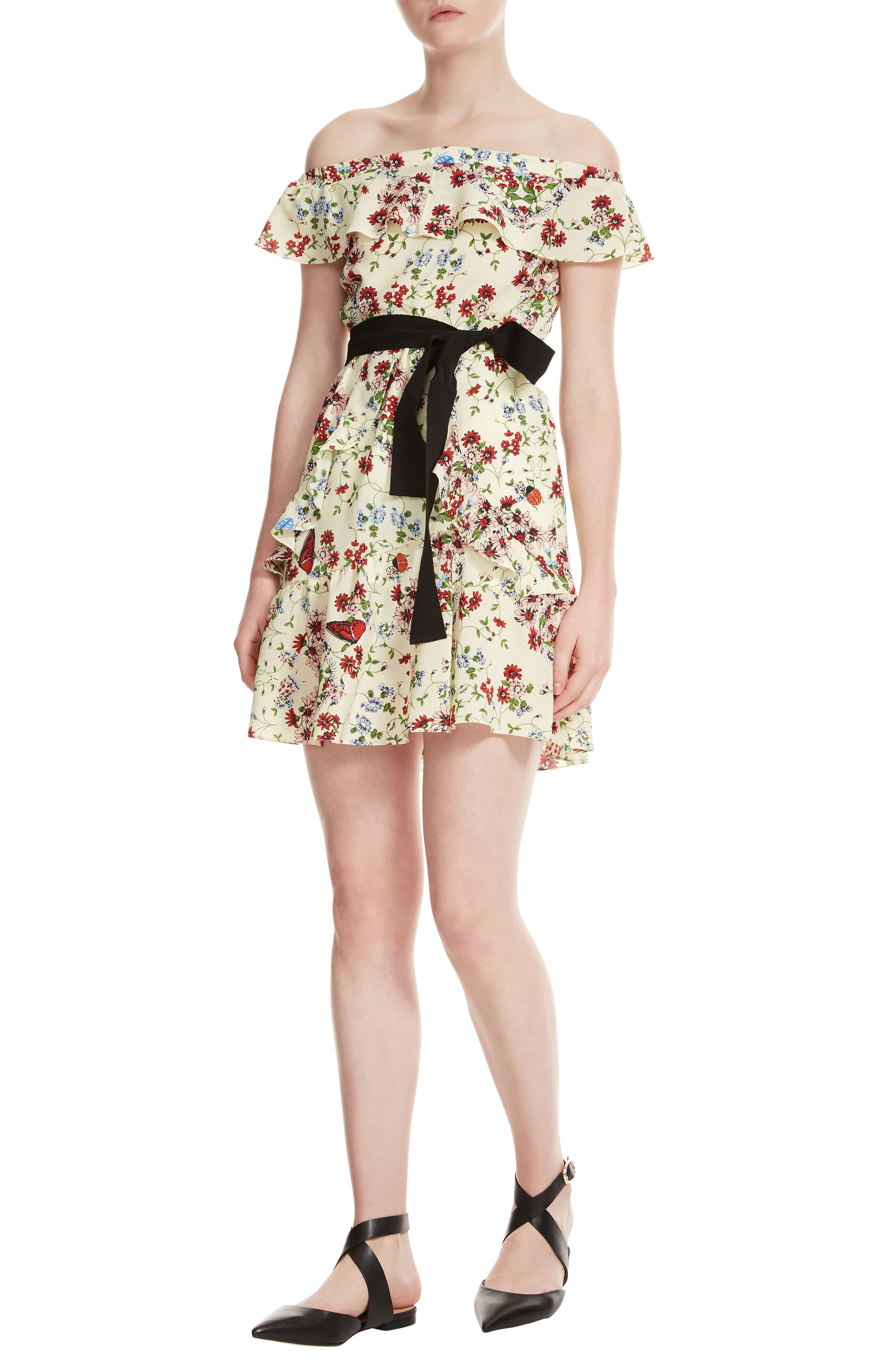 Rinora Silk Dress,                             Main thumbnail 1, color,                             100