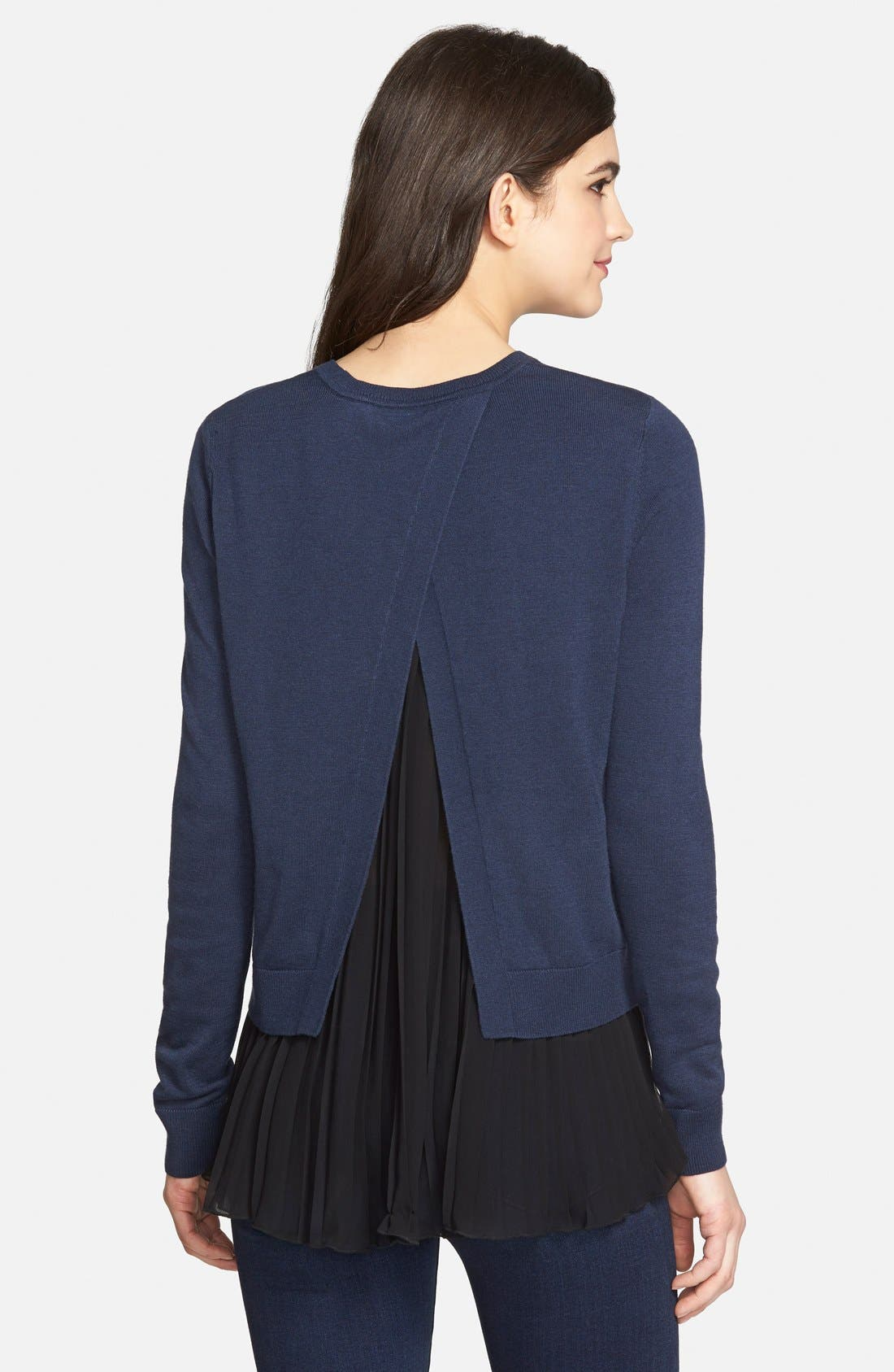 Pleated Hem Sweater,                             Alternate thumbnail 9, color,                             410