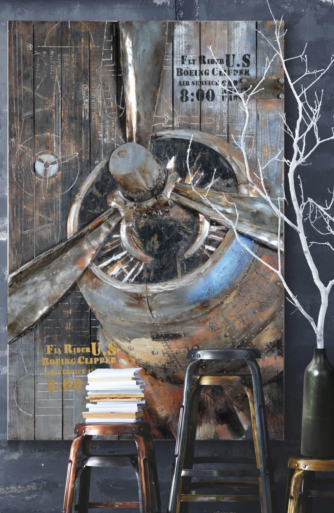 Fly Rider Propeller Wall Art,                             Alternate thumbnail 2, color,                             020