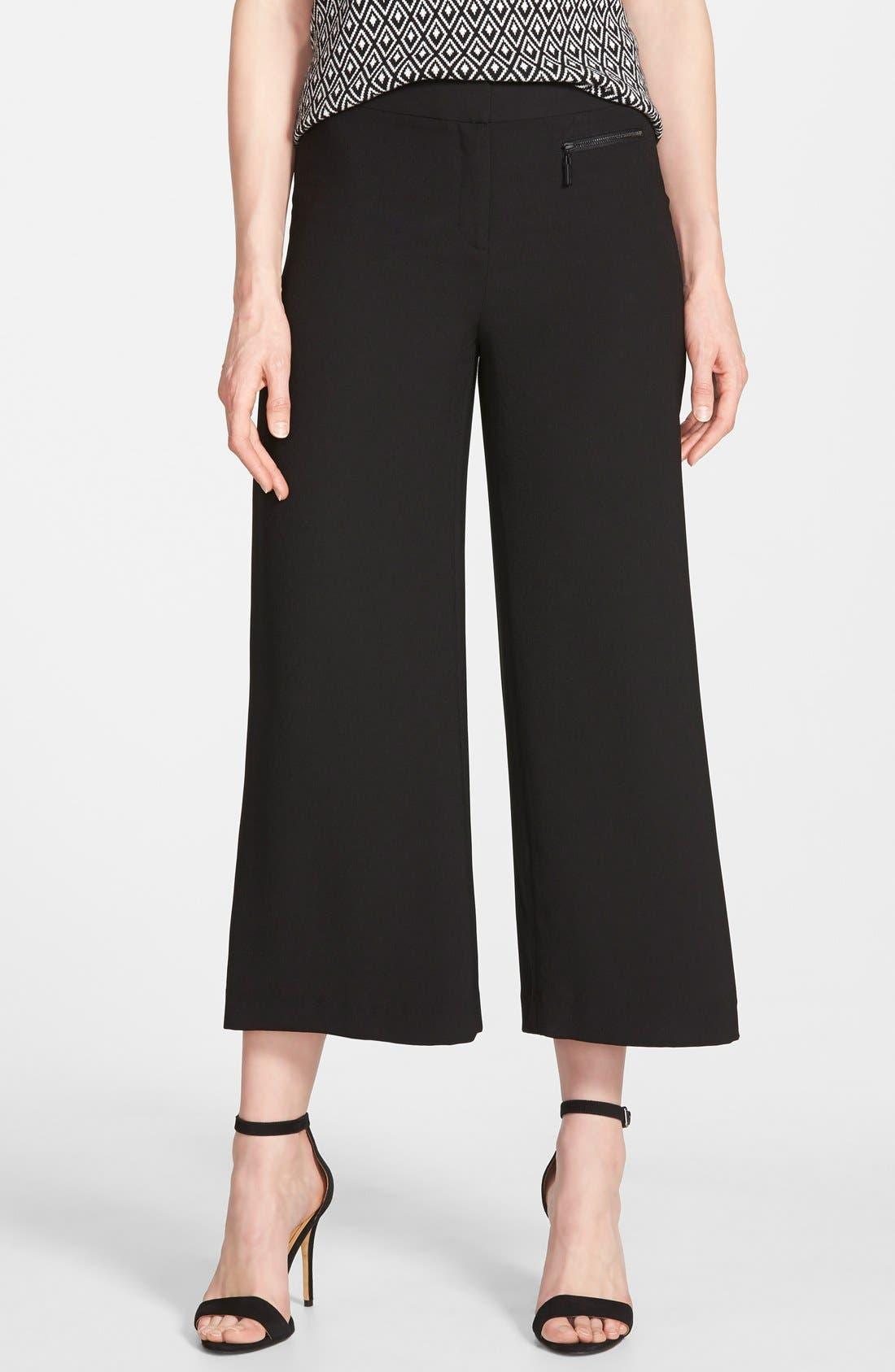Zip Pocket Culottes,                         Main,                         color, 006