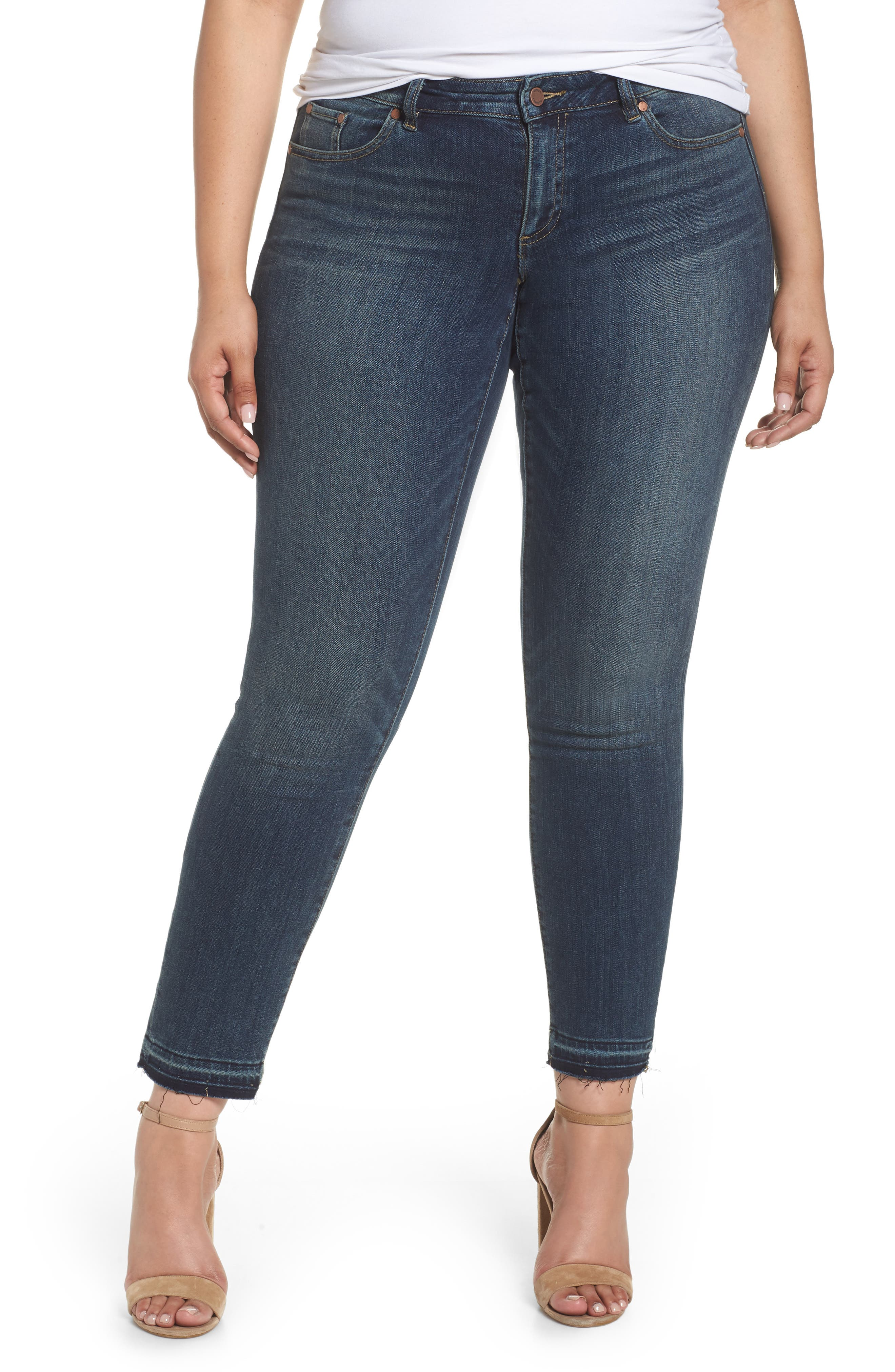 VINCE CAMUTO Release Hem Ankle Jeans, Main, color, 418
