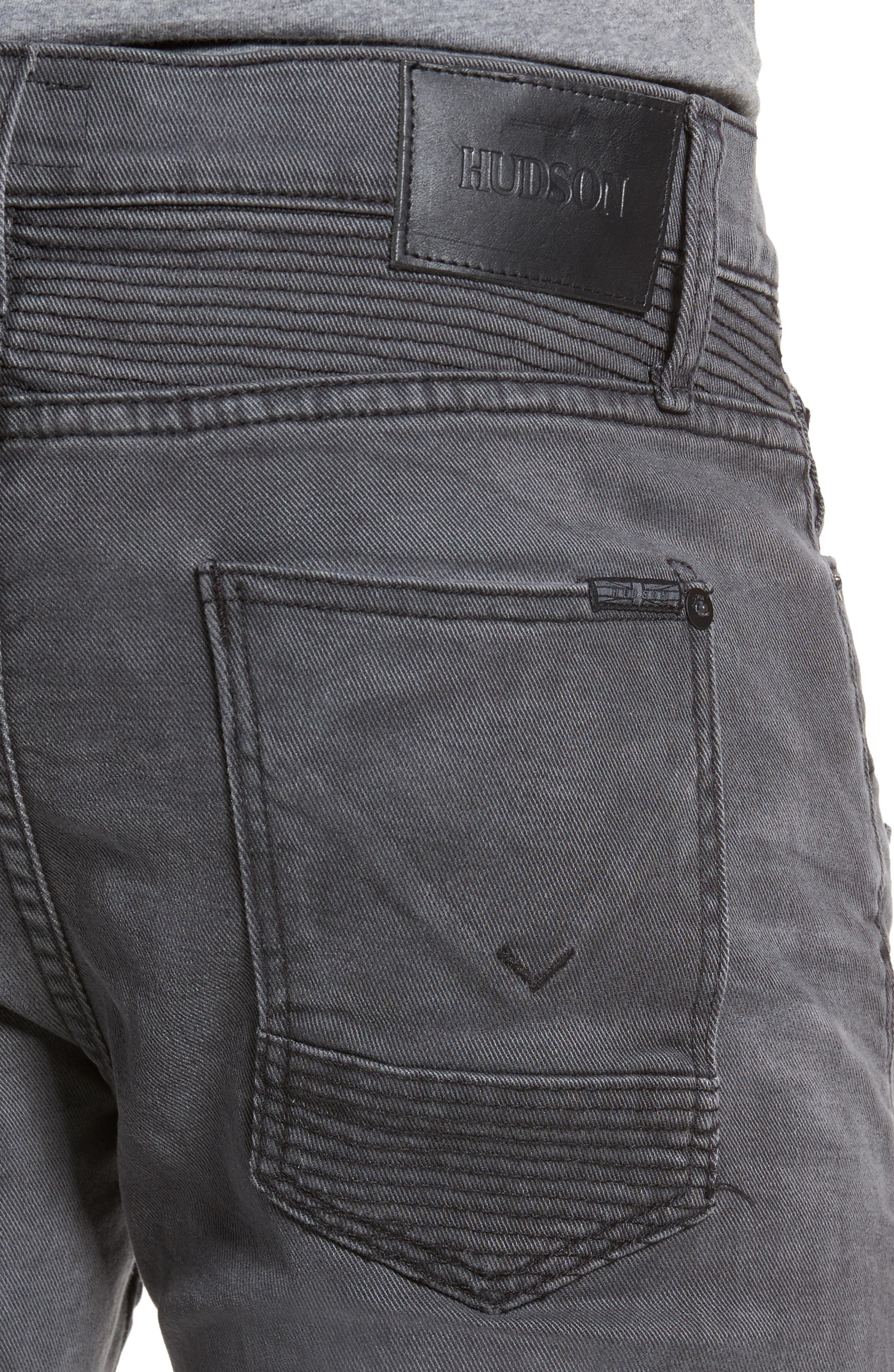 Blinder Biker Moto Skinny Fit Jeans,                             Alternate thumbnail 4, color,                             MIXTAPE
