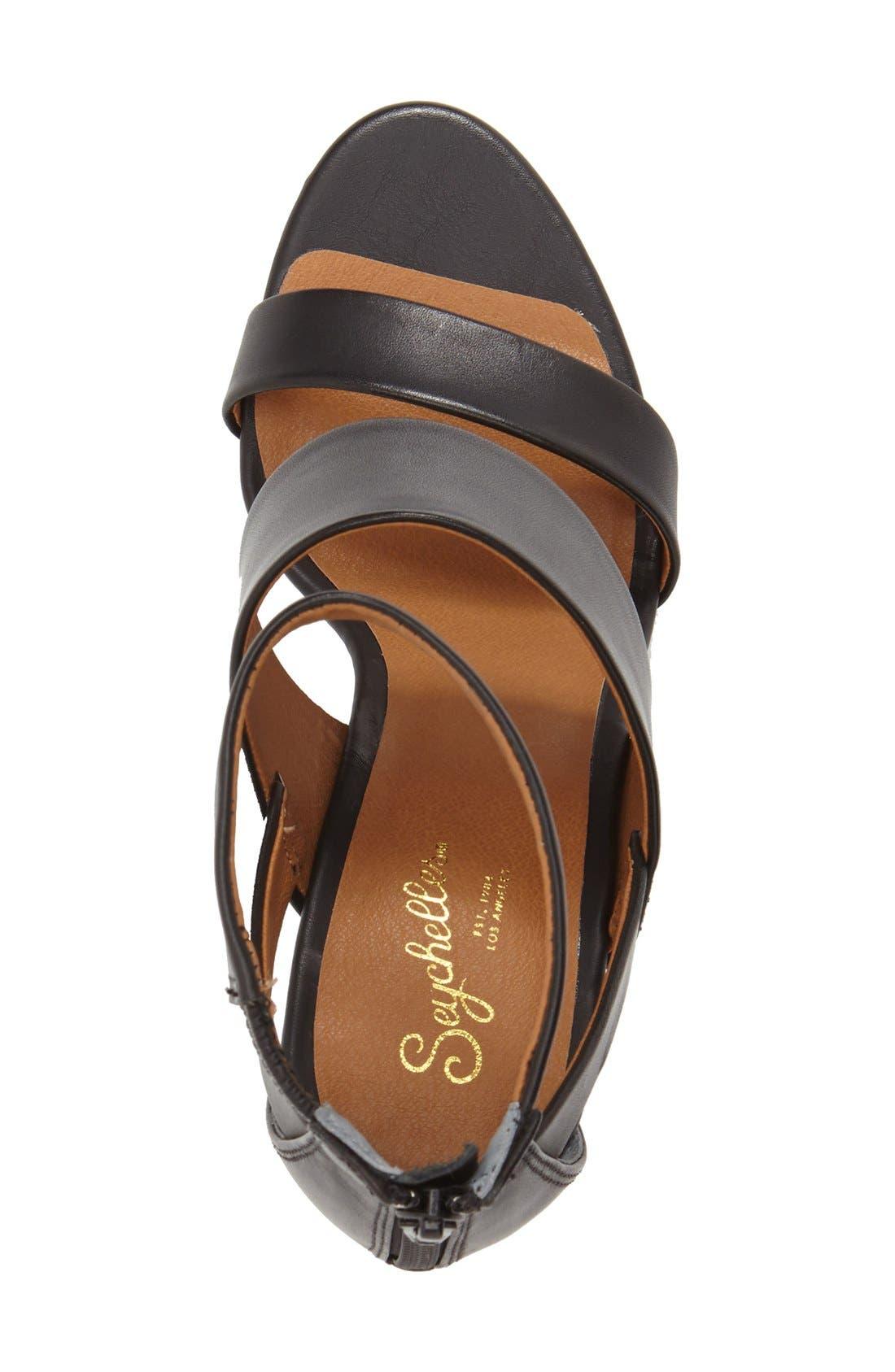 'Suave' Wedge Sandal,                             Alternate thumbnail 4, color,                             001