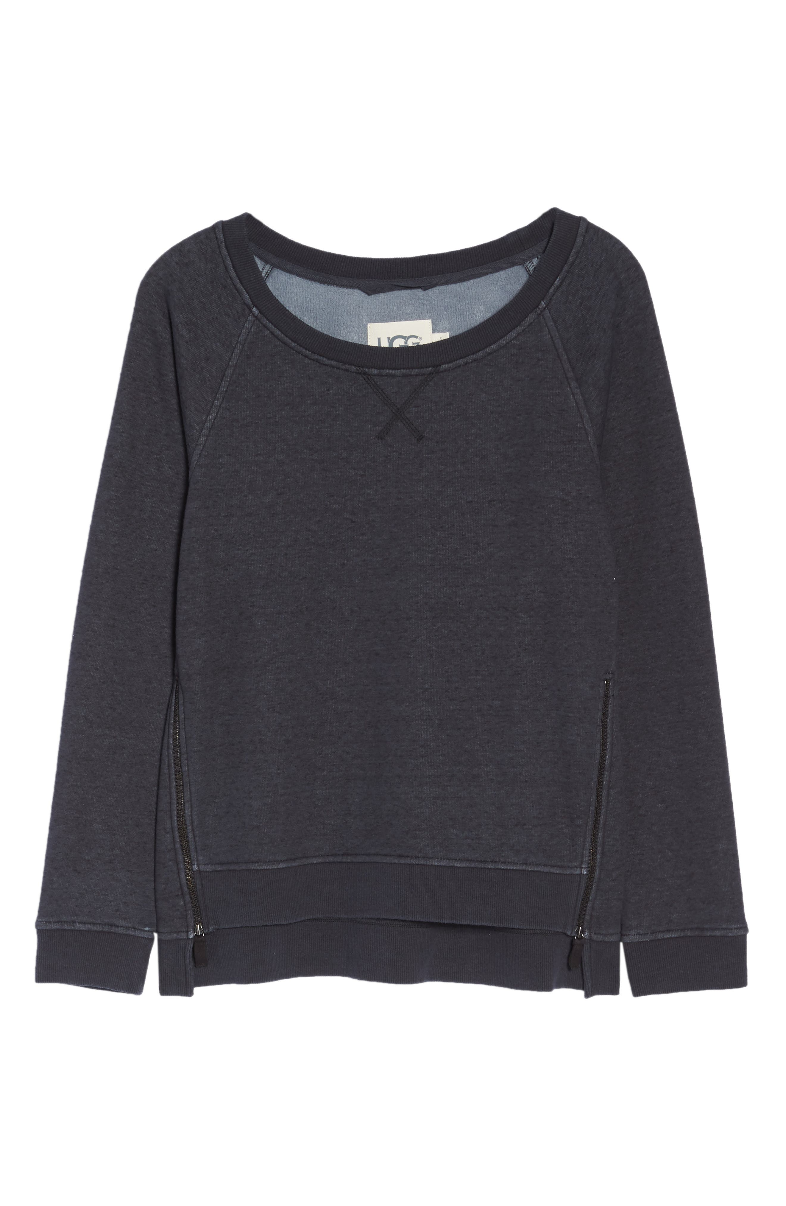 Morgan Sweatshirt,                             Alternate thumbnail 6, color,                             BLACK HEATHER