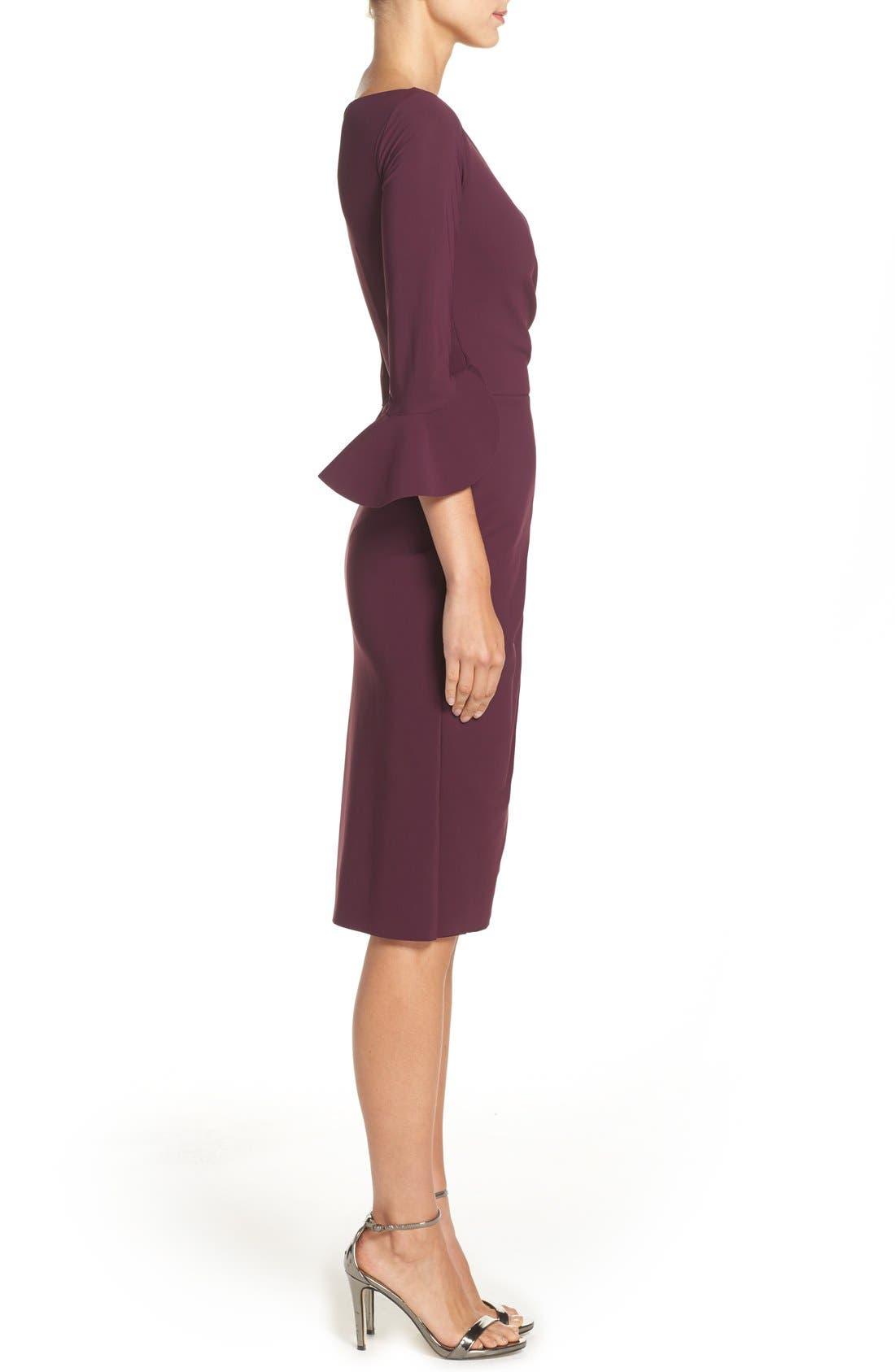 CHIARA BONI LA PETITE ROBE,                             'Triana' Jersey Sheath Dress,                             Alternate thumbnail 4, color,                             501