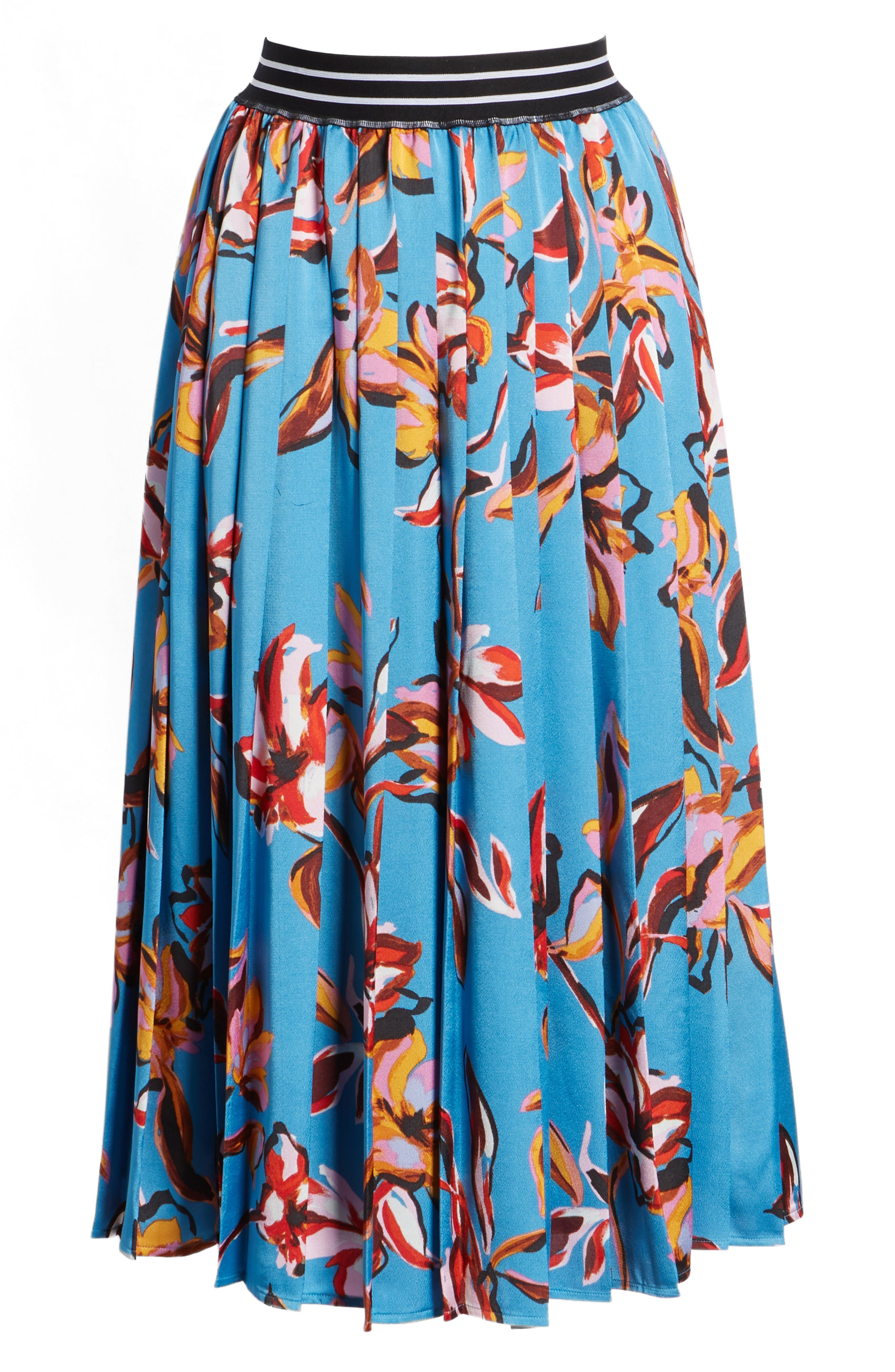 HALOGEN<SUP>®</SUP>,                             Printed Pleated Skirt,                             Alternate thumbnail 6, color,                             420