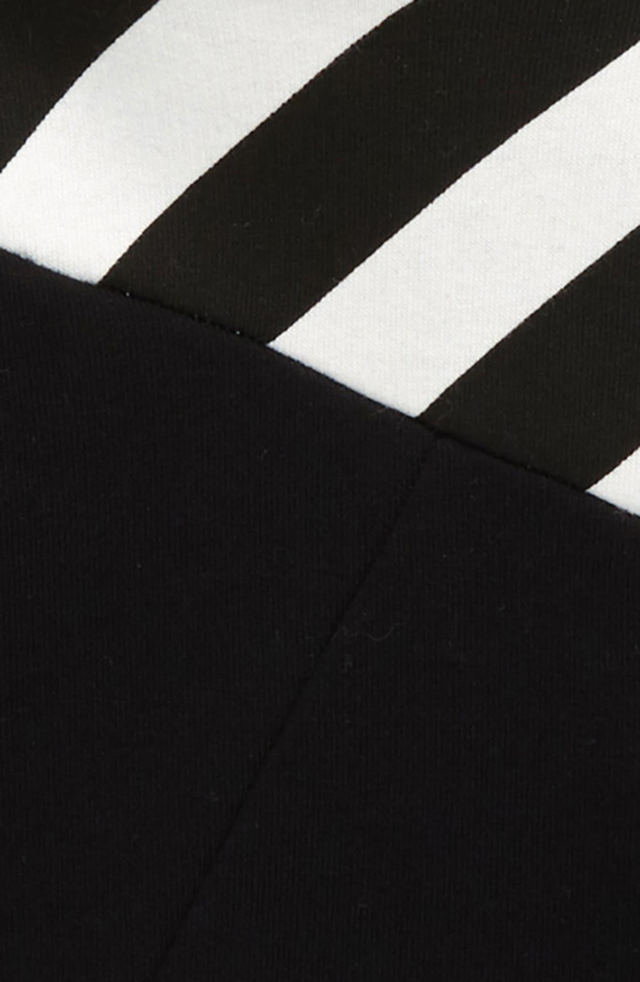 Part Stripe Pullover Hoodie,                             Alternate thumbnail 2, color,                             001