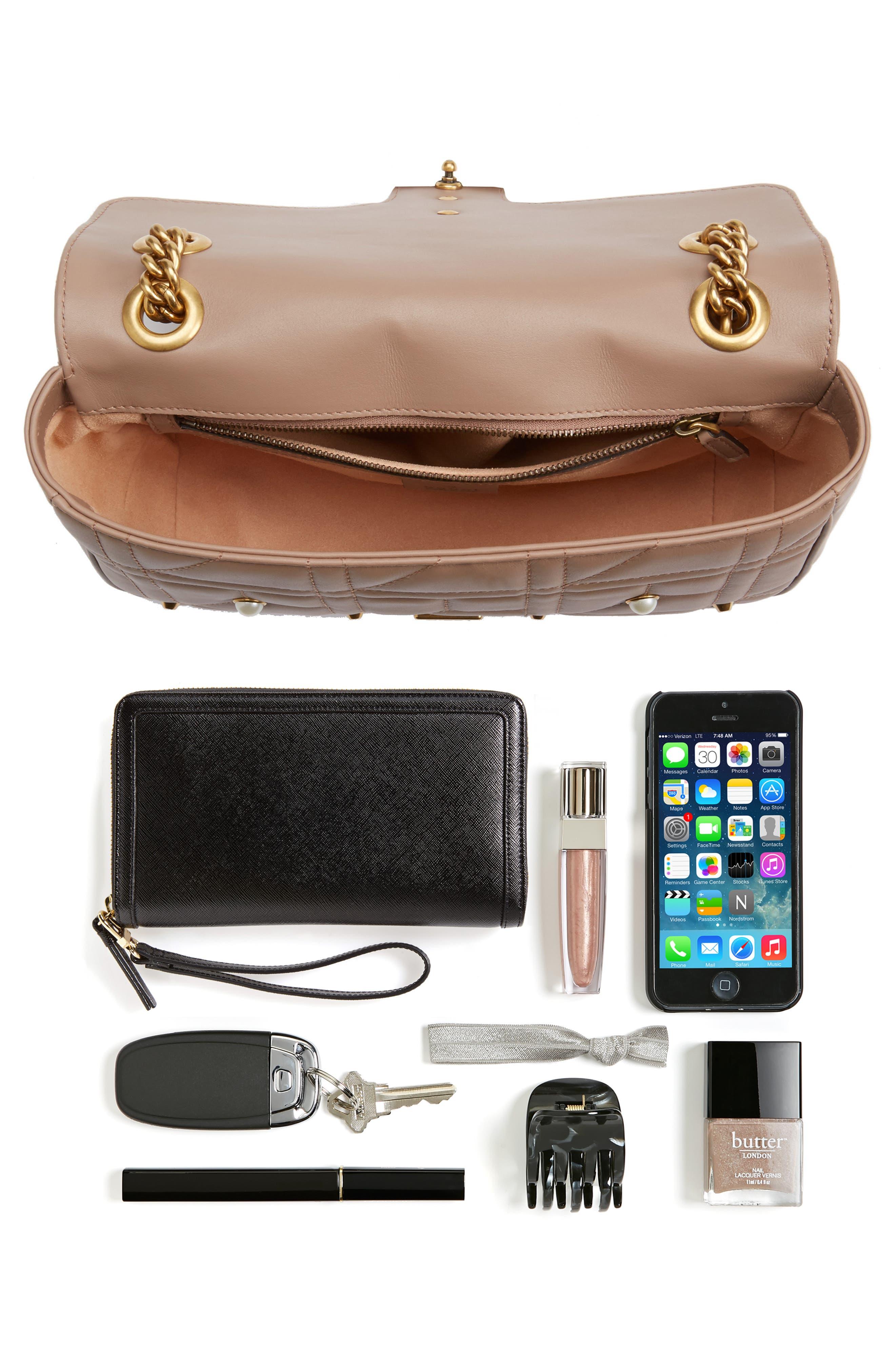 GG Marmont Matelassé Imitation Pearl Leather Shoulder Bag,                             Alternate thumbnail 11, color,